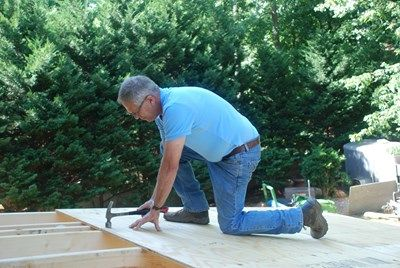 Install the roof sheathing