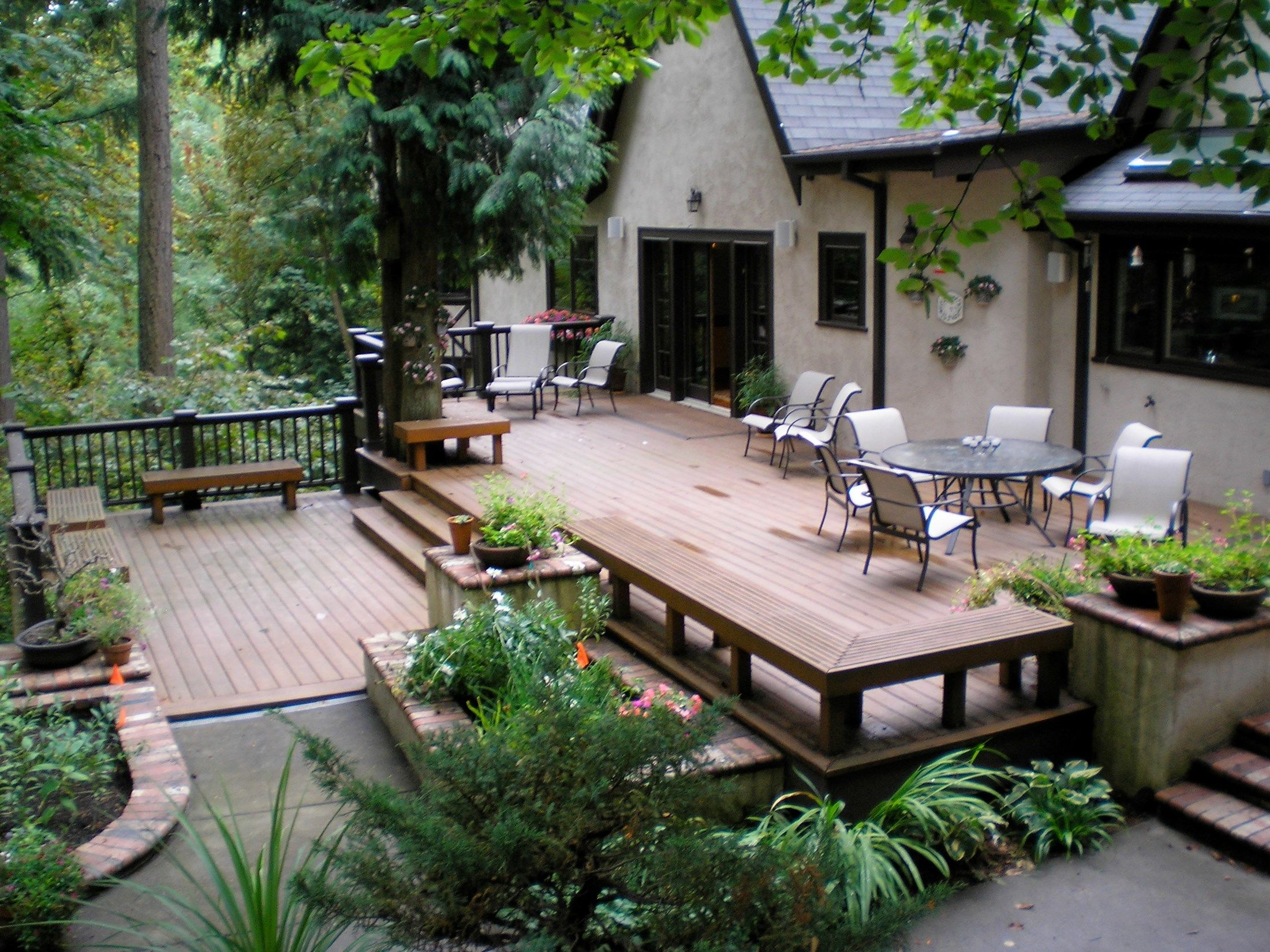 vermont woods cedar mill deck company 4 pictures - Patio Deck Design Ideas