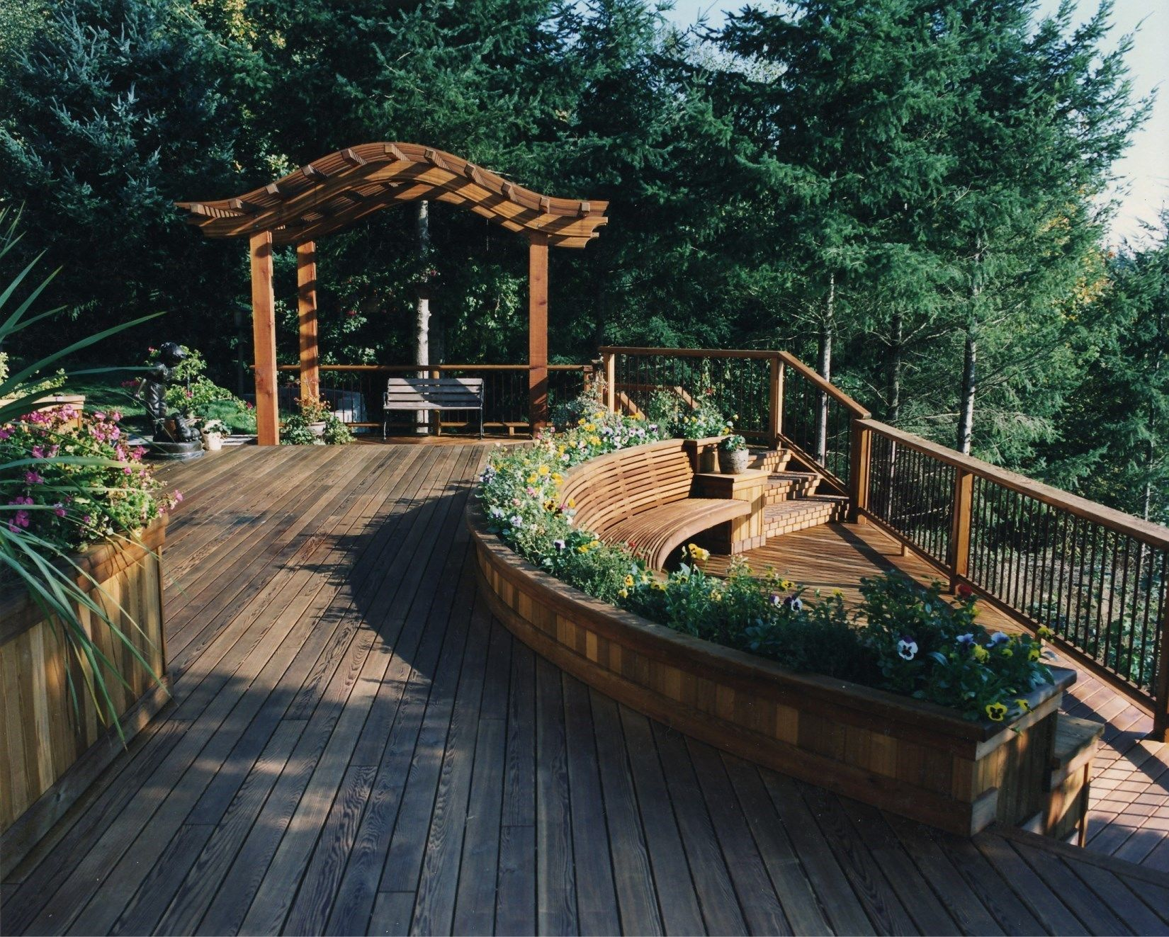 Cedar Deck Railing Ideas Pictures Designs Decks Com