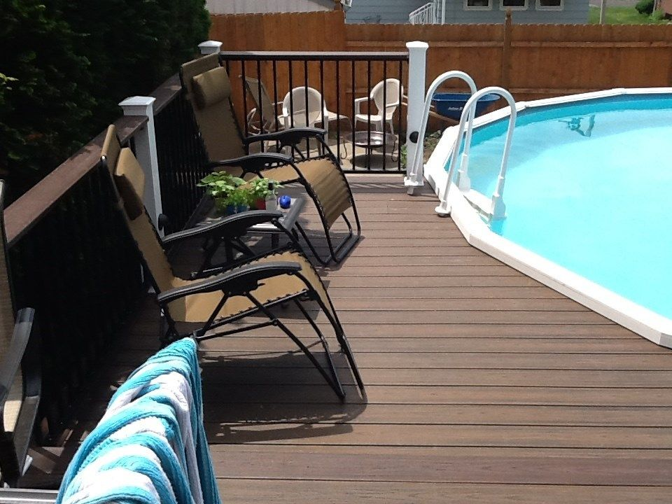 Above ground Pool deck 2 - Picture 1112