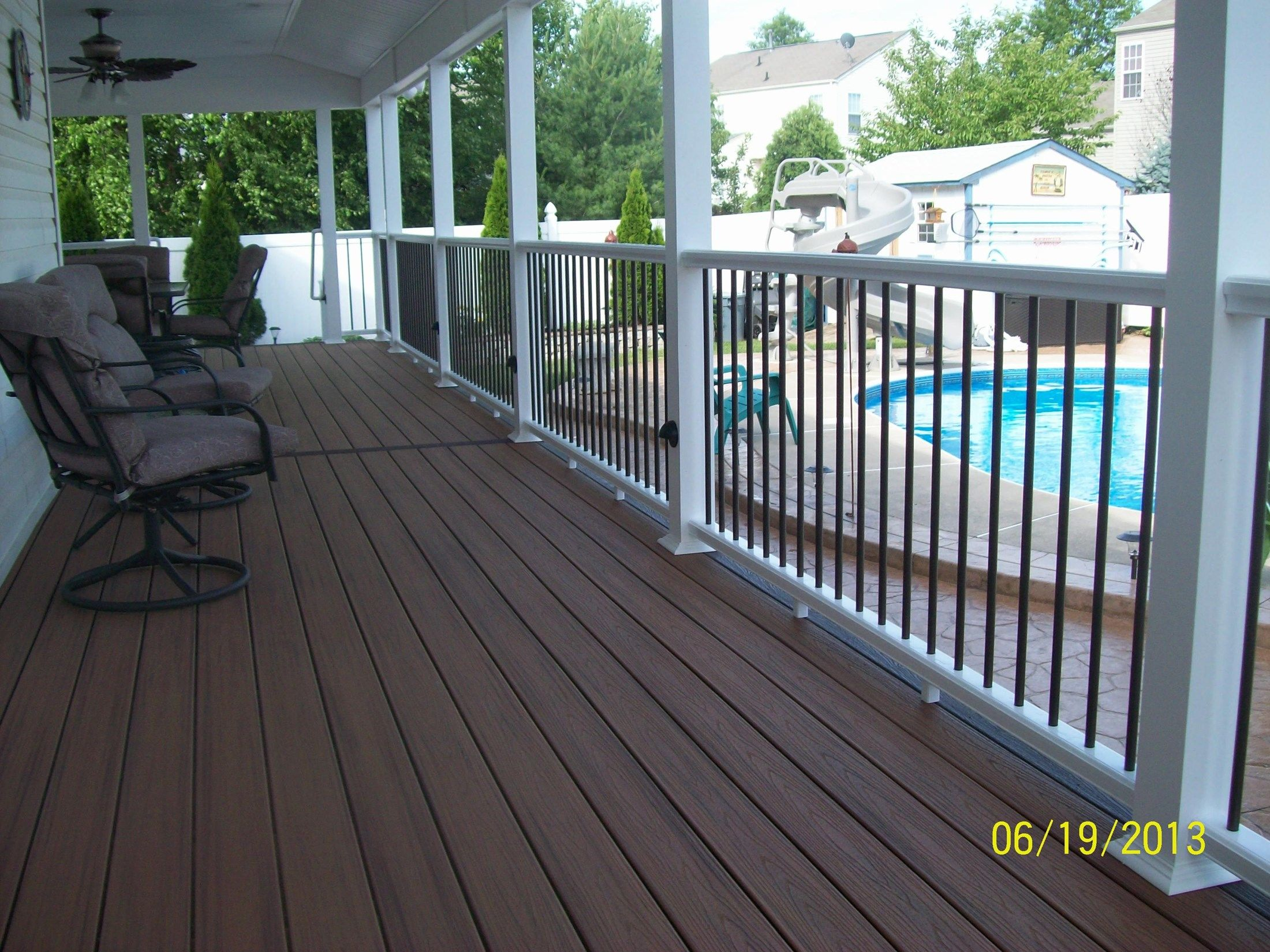 Rear covered Porch in Burlington - Picture 1158
