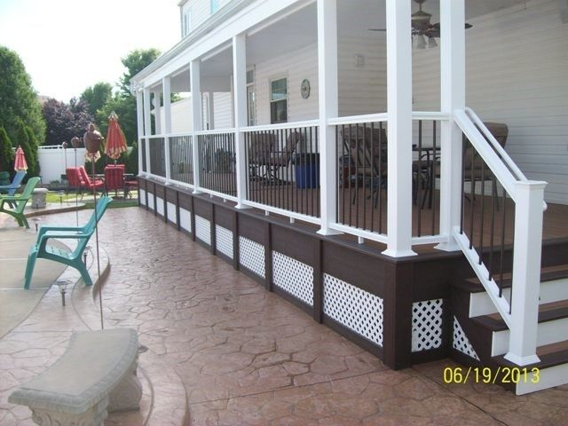 Rear covered Porch in Burlington - Picture 1159