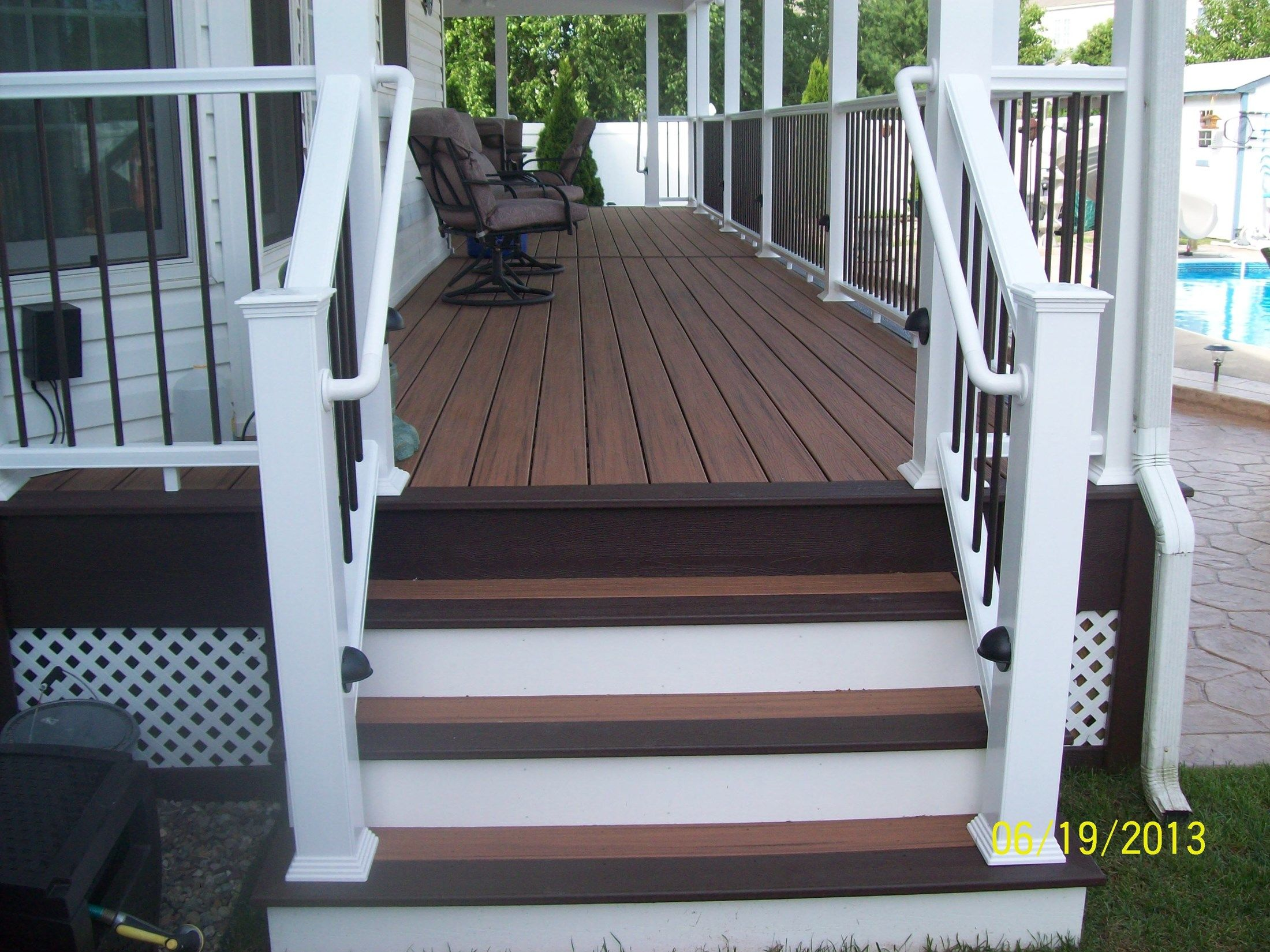 Rear Covered Porch In Burlington Picture 1160 Decks Com