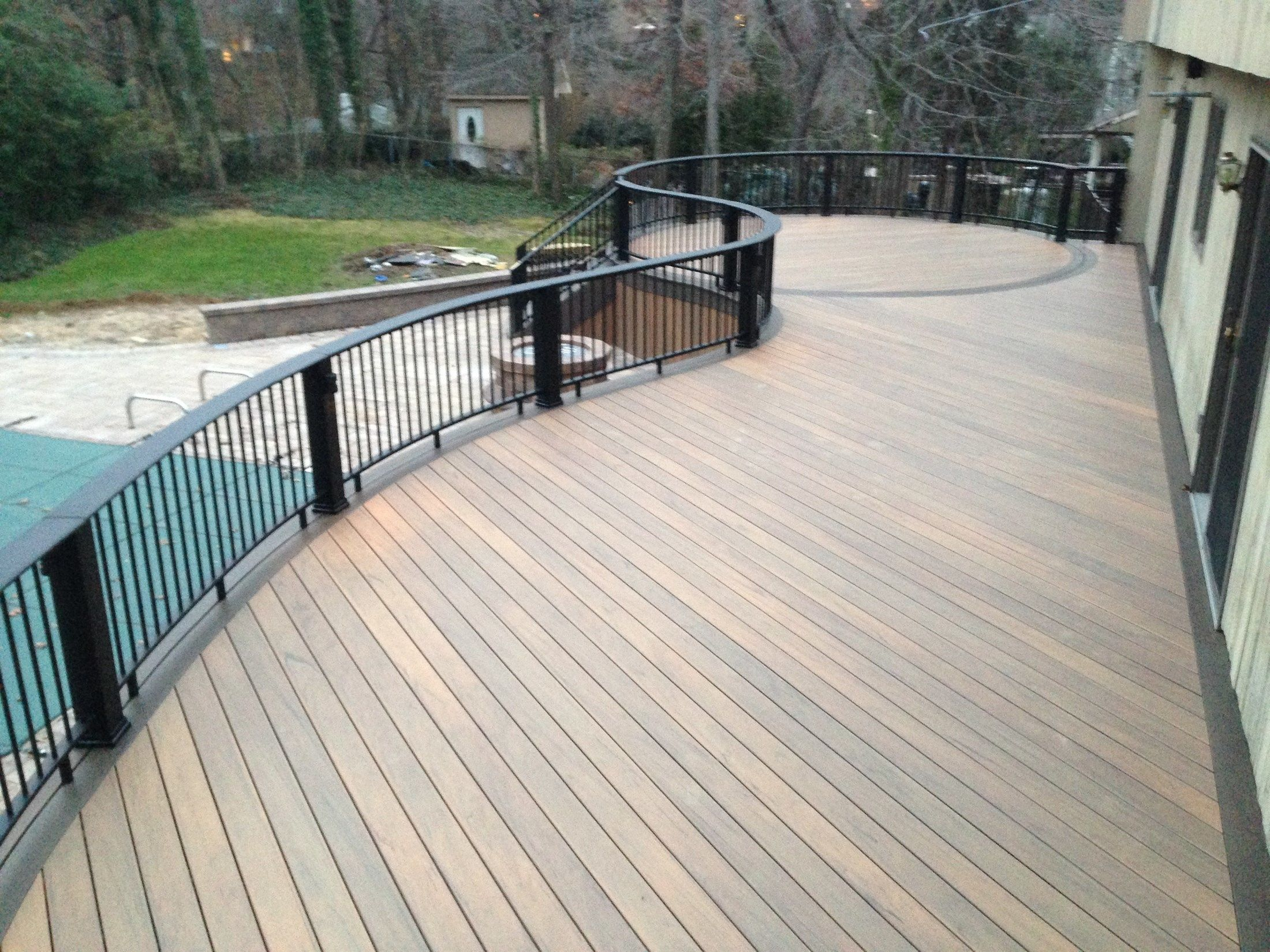 Composite decking material review for Composite deck railing