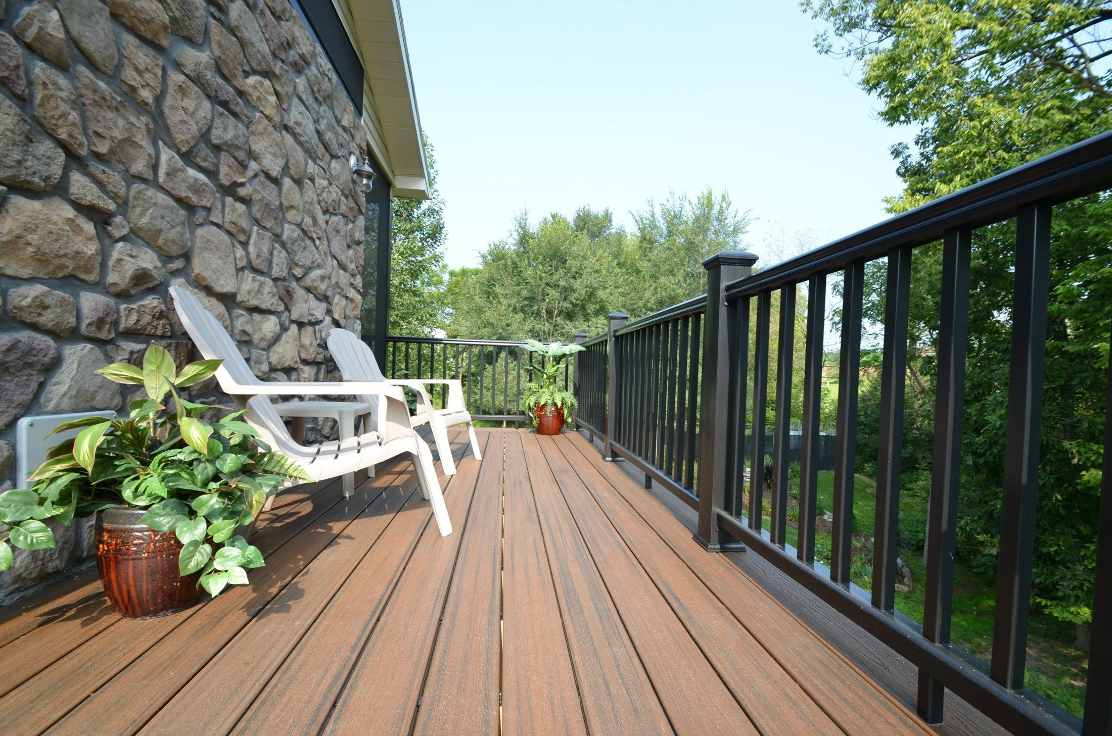 Custom Deck with Fireplace Wall - Picture 1768