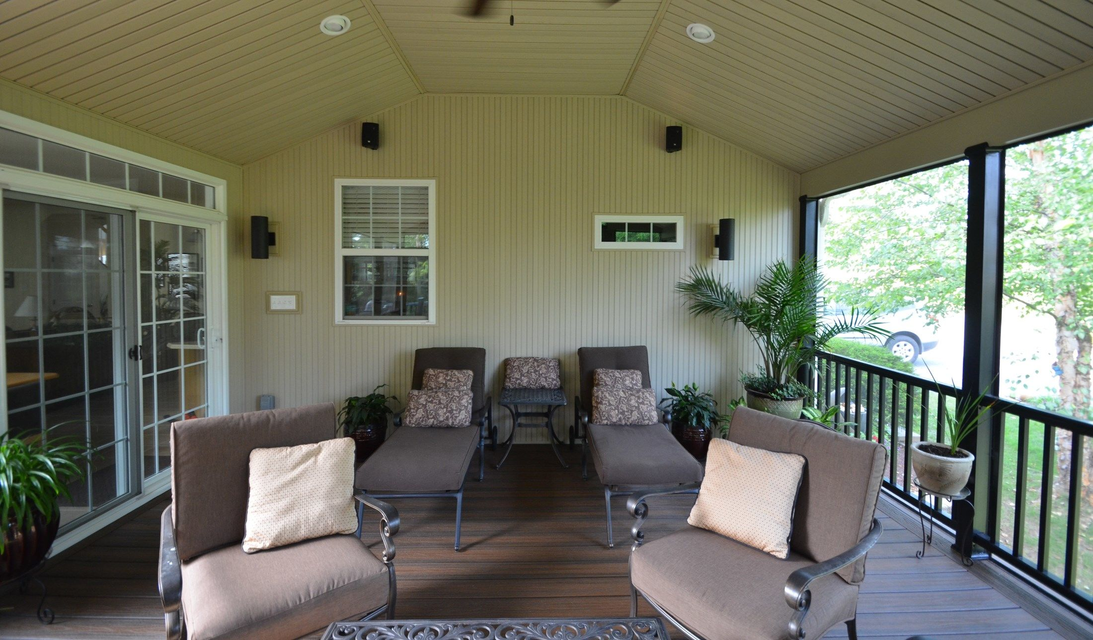 Custom Deck with Fireplace Wall - Picture 1778