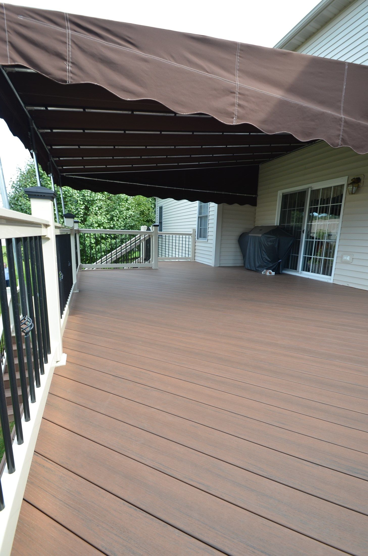 2nd story deck with custom stairs - Picture 1785