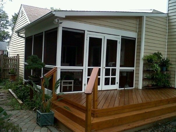 One slope roofed screen porch - Picture 1965