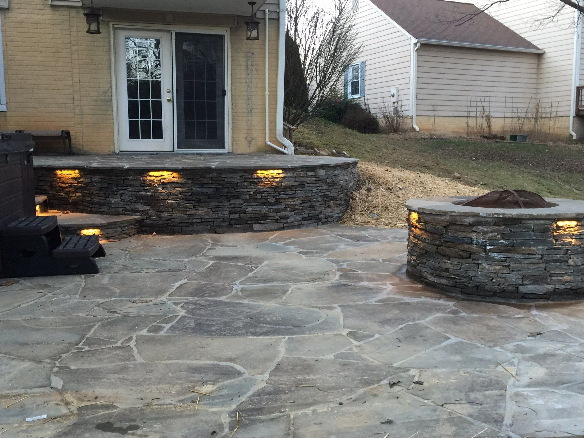 Flagstone patio with Hot tub. - Picture 2020