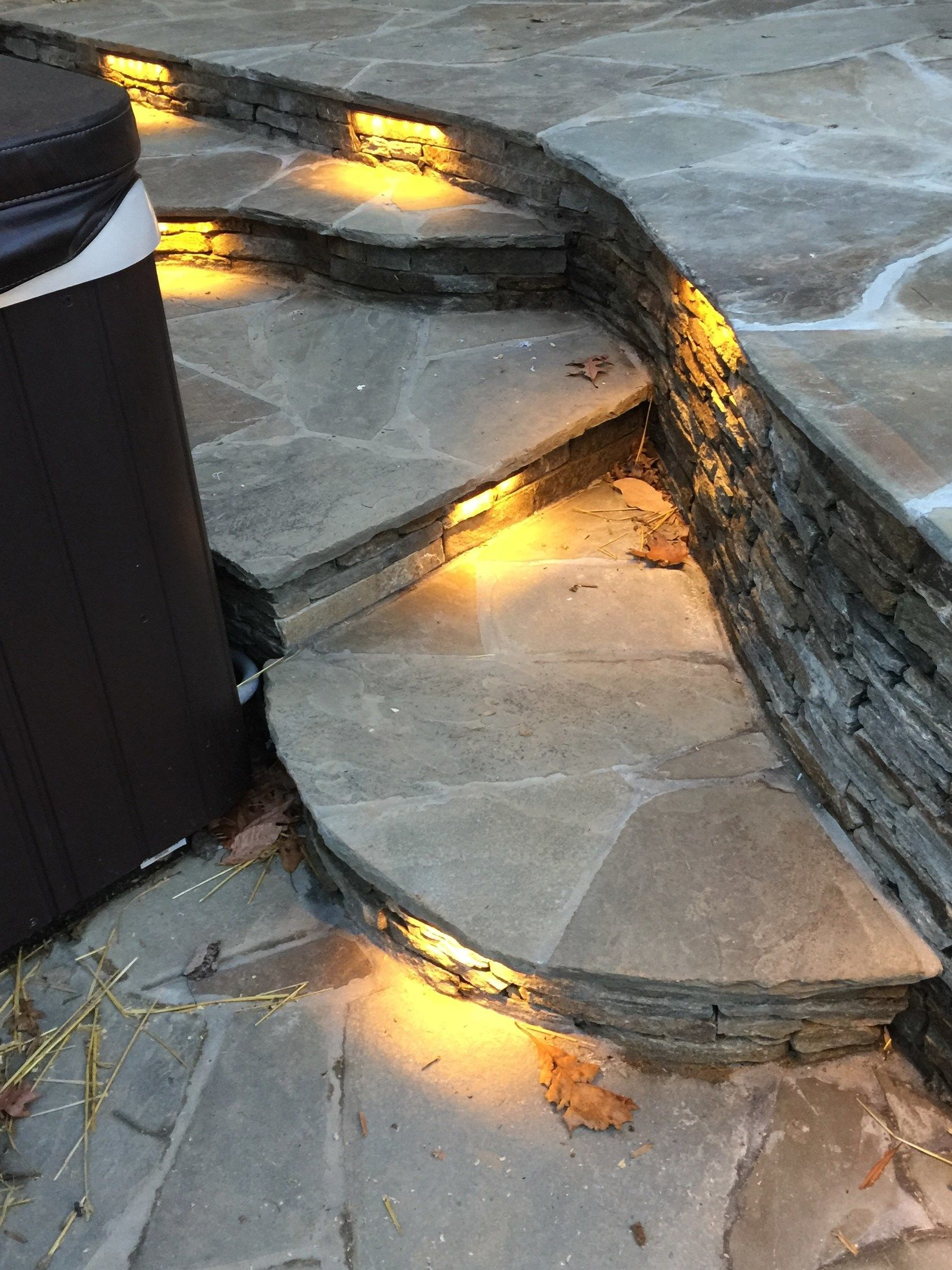Flagstone patio with Hot tub. - Picture 2021