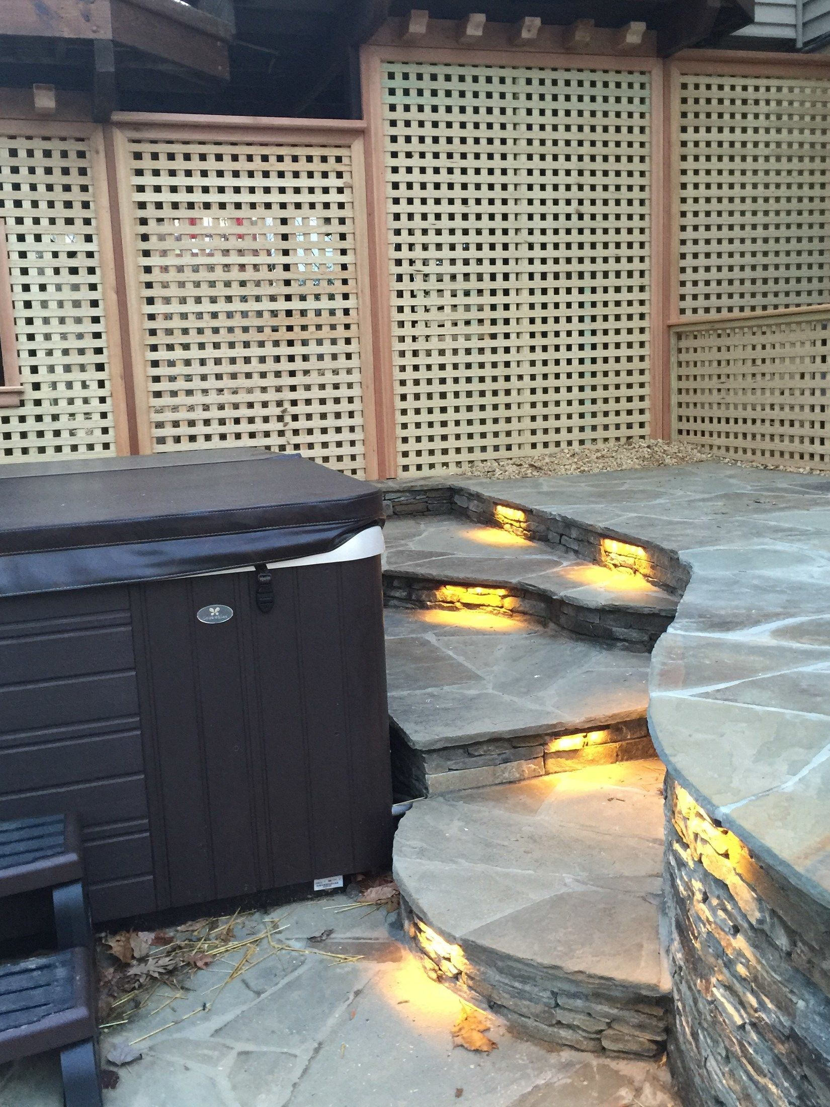 Flagstone patio with Hot tub. - Picture 2022