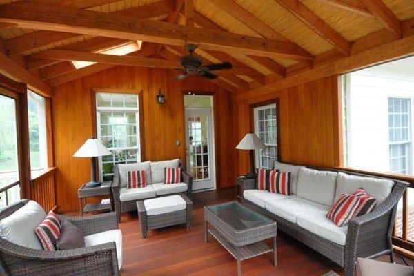 Cedar and Mahogany Porch - Picture 2064