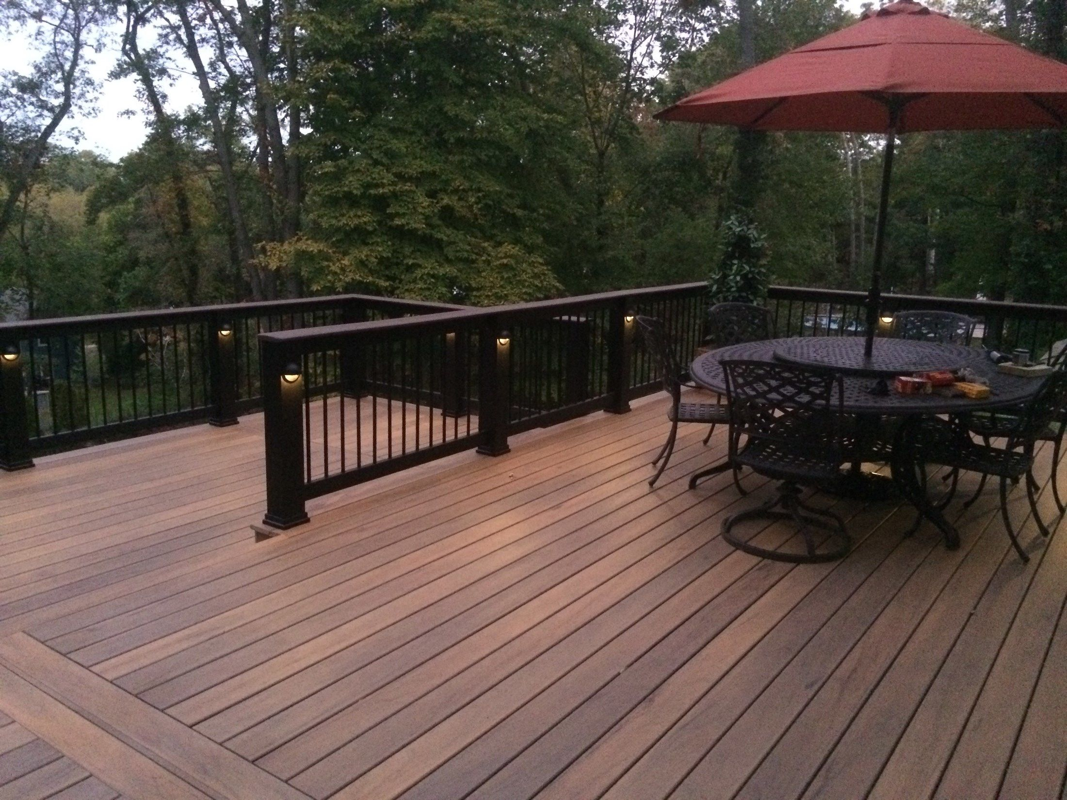 East Setauket Two Level Deck - Picture 3179