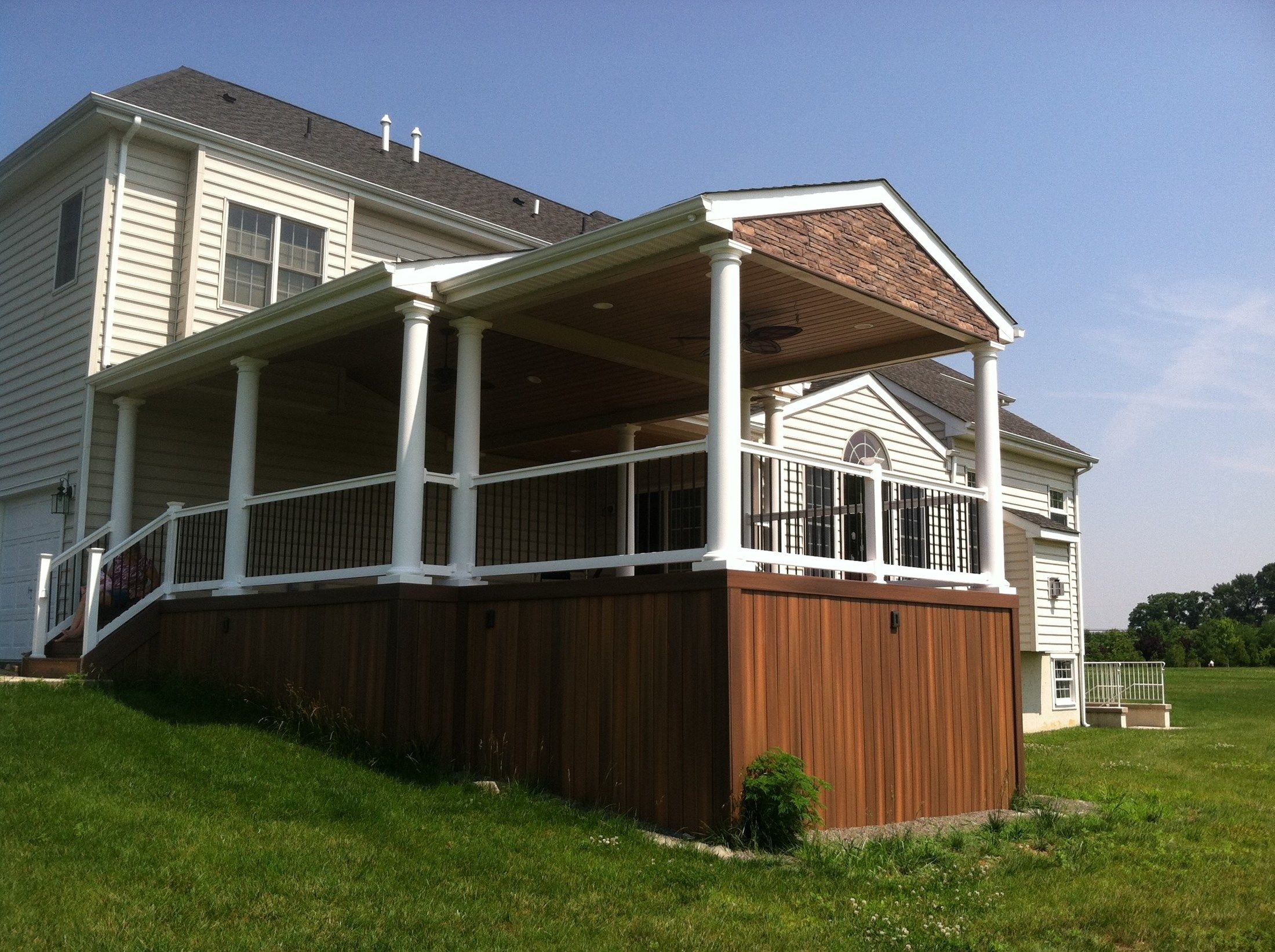 Custom Roofed deck in Upper Freehold NJ - Picture 3220