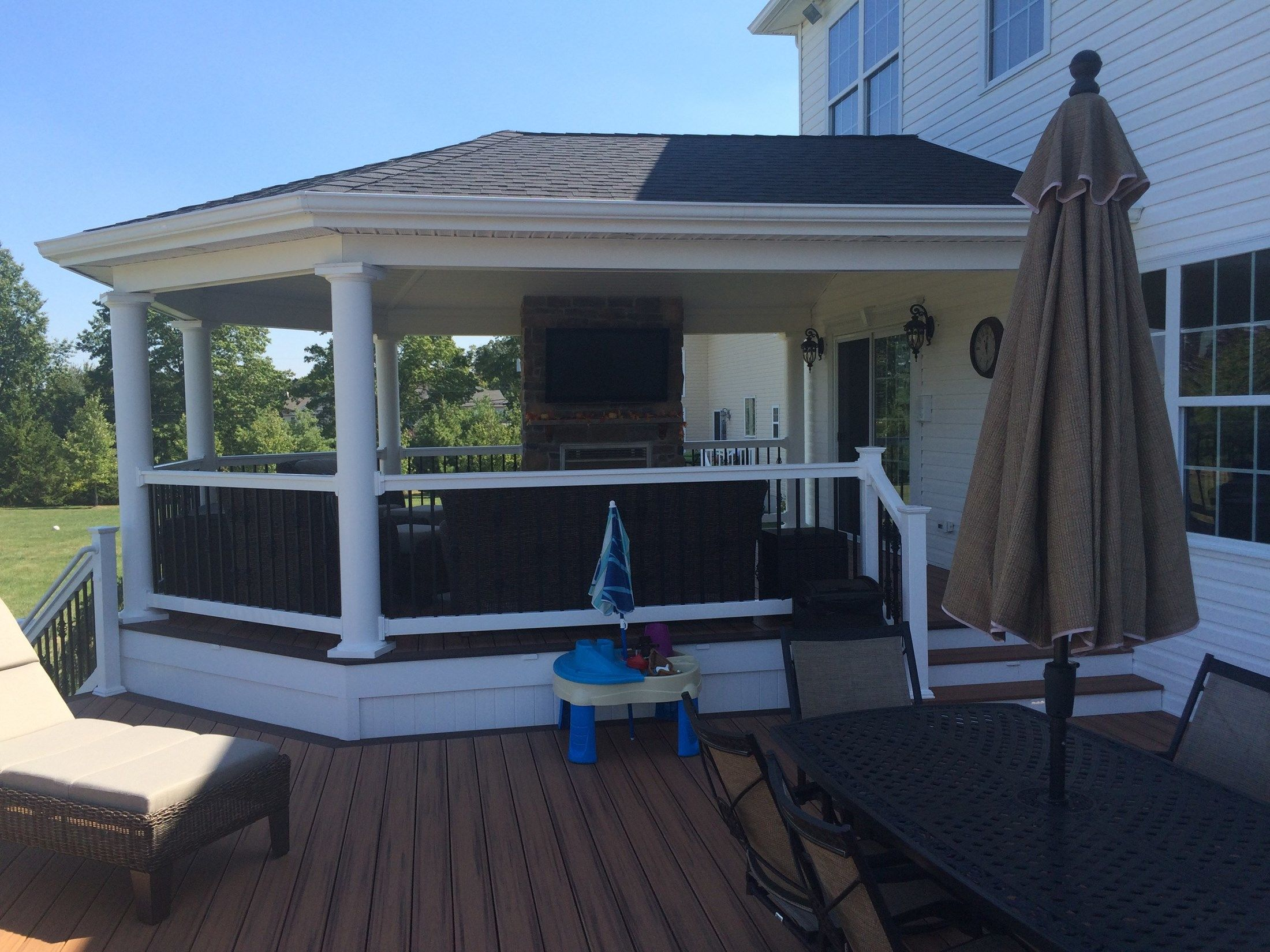 Custom Roofed Deck in Monroe NJ - Picture 3223