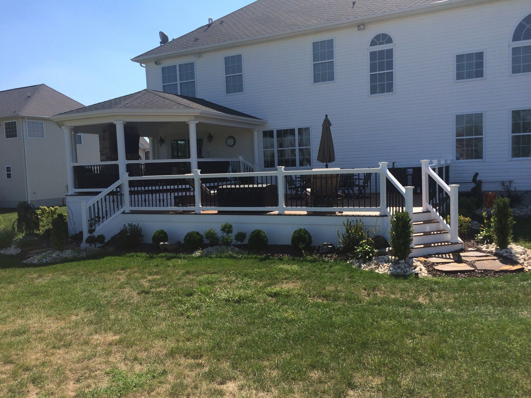Custom Roofed Deck in Monroe NJ - Picture 3224