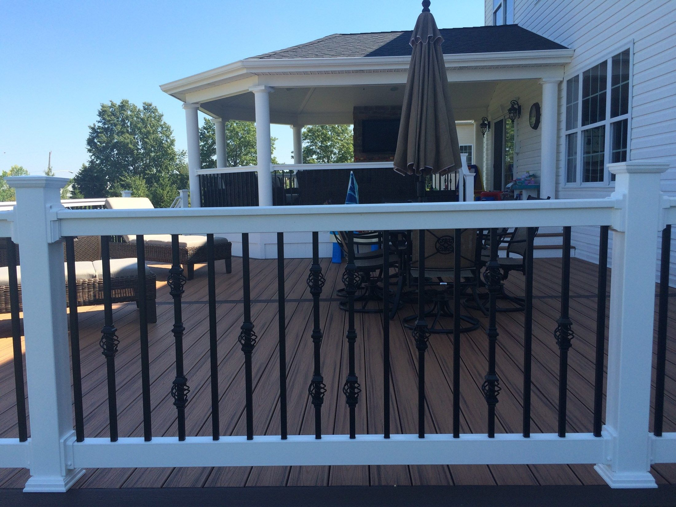 Custom Roofed Deck in Monroe NJ - Picture 3225