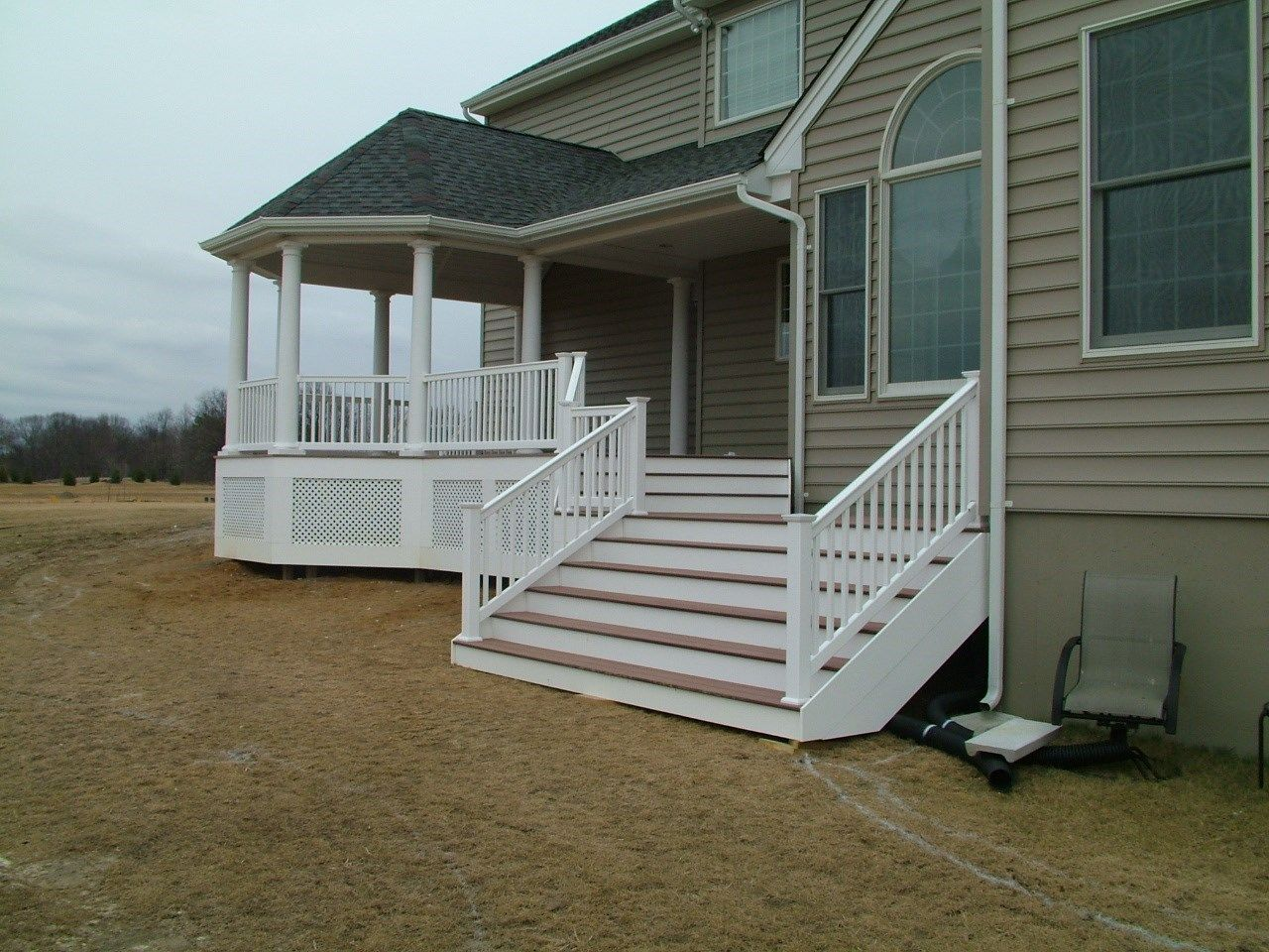 Custom Roofed deck in Upper Freehold NJ - Picture 3249