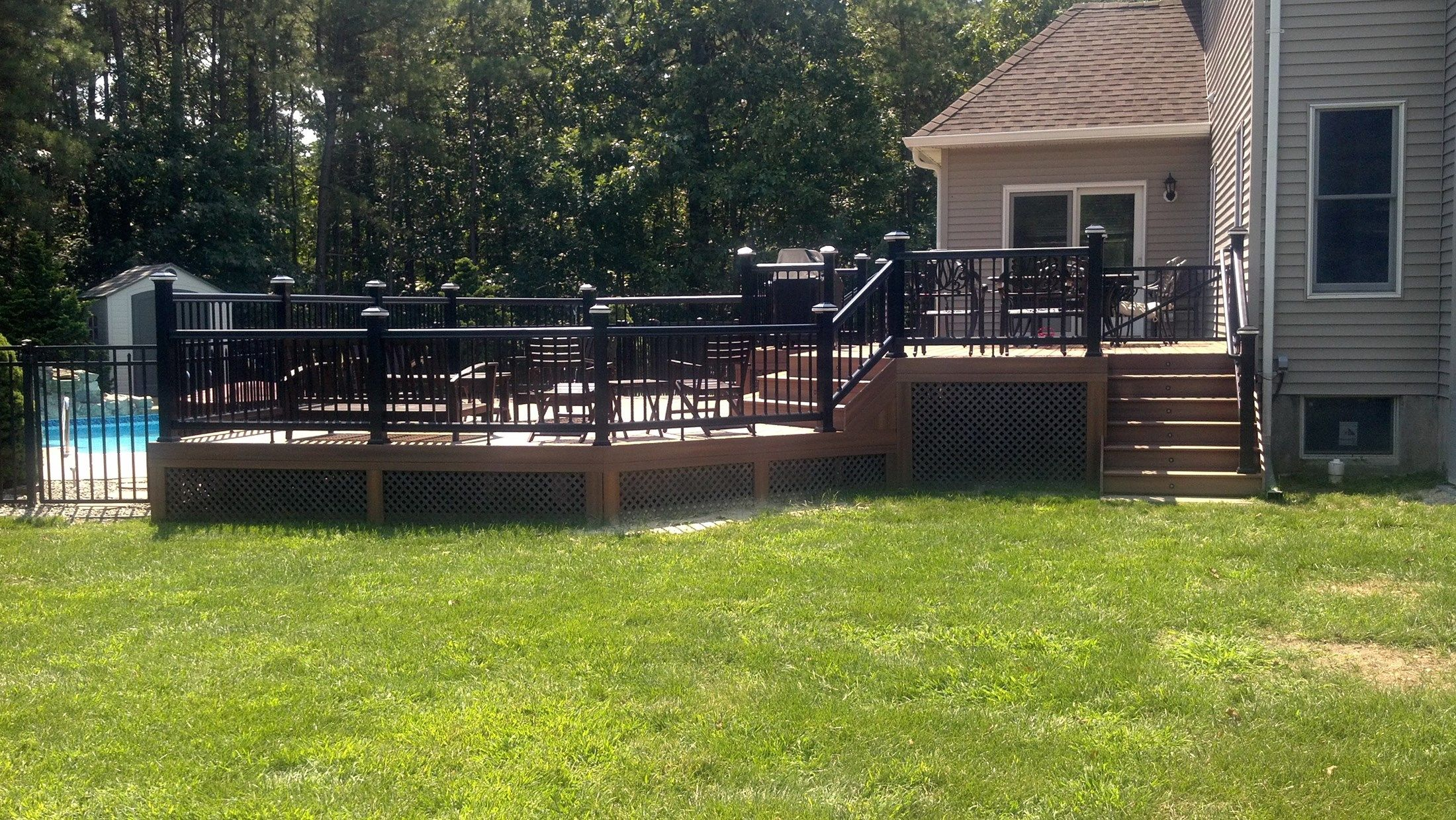 Custom deck in Millstone N.J. - Picture 3284