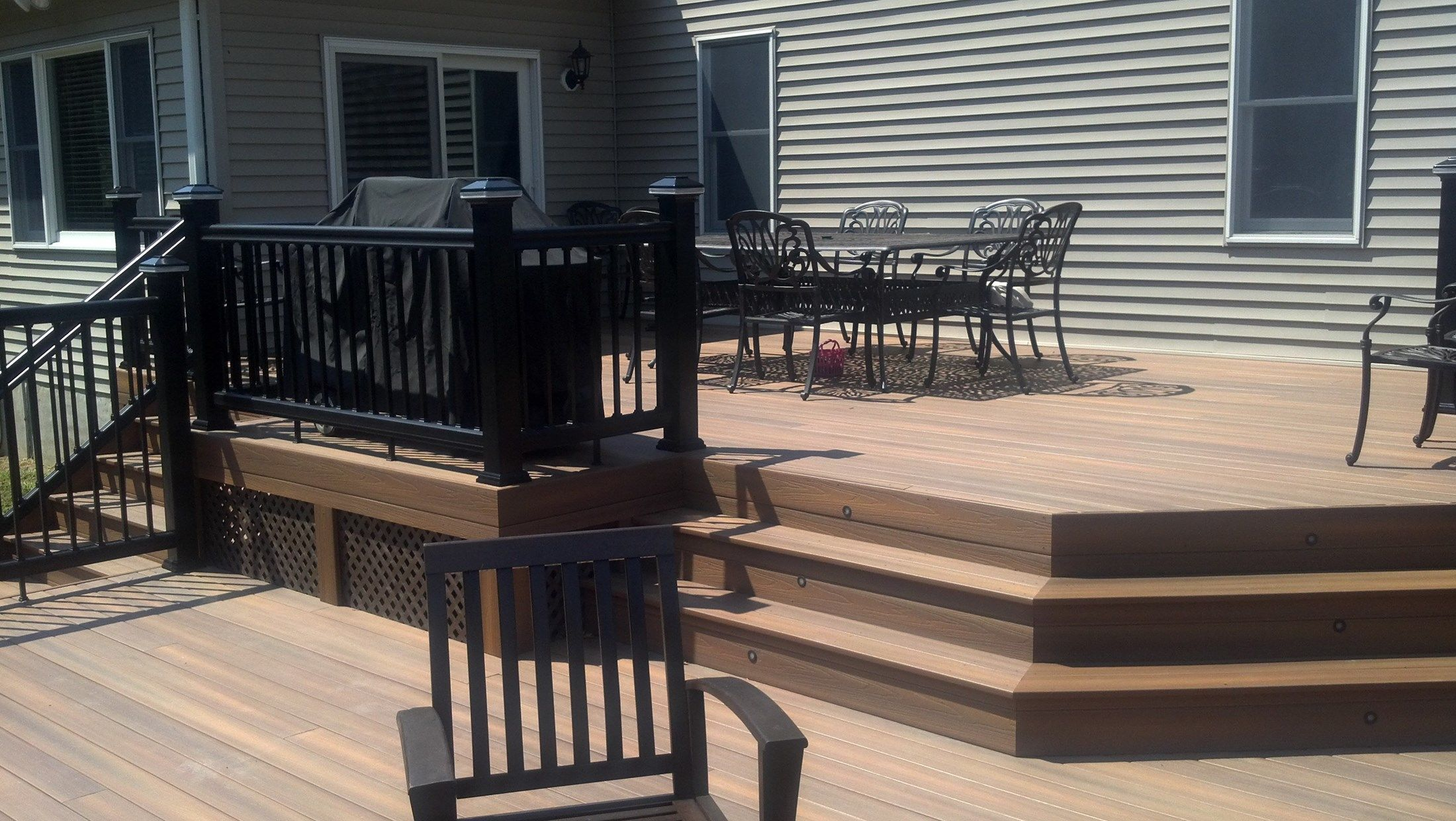 Custom deck in Millstone N.J. - Picture 3289