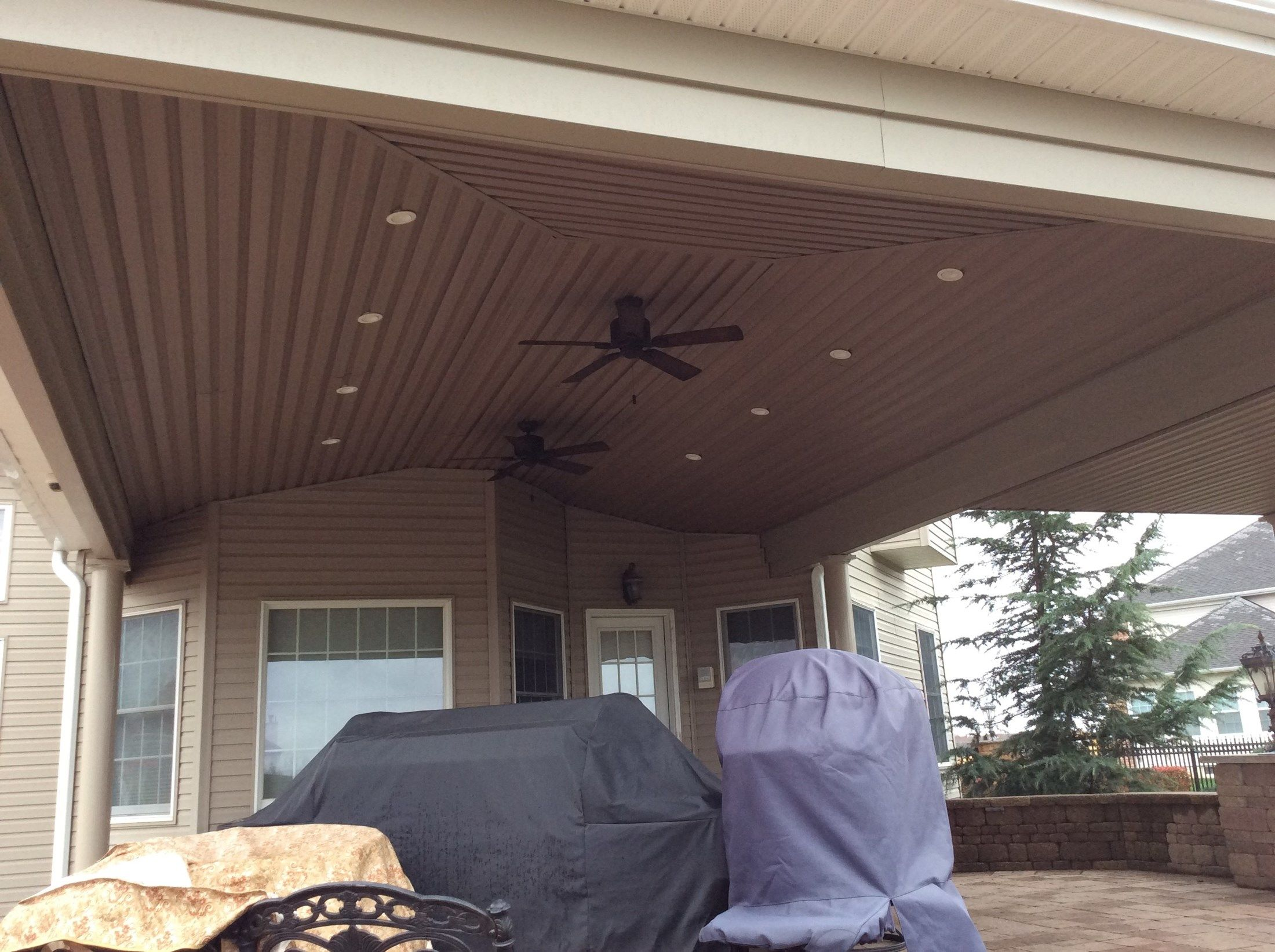 Custom Roof over Paver Patio in Upper Freehold NJ - Picture 3316