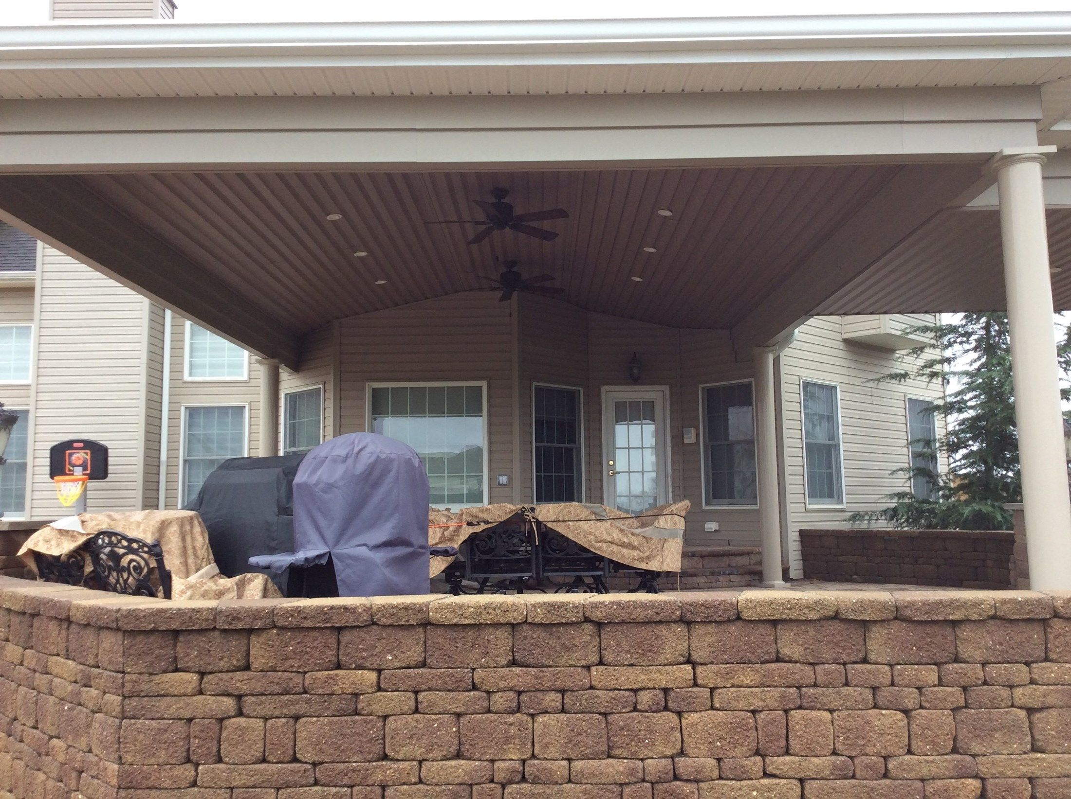 Custom Roof over Paver Patio in Upper Freehold NJ - Picture 3317