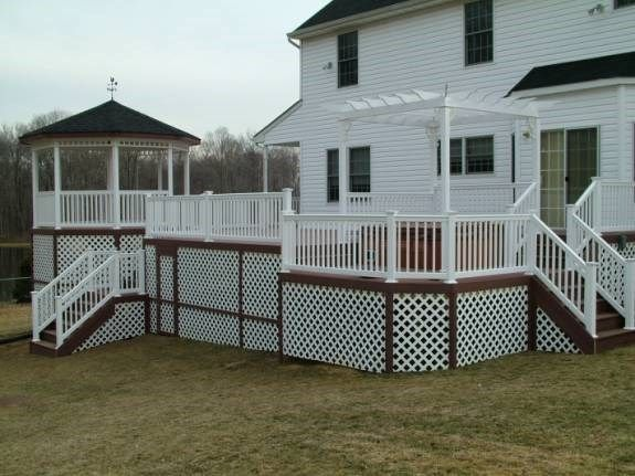 Custom Gazebo deck in Allentown NJ - Picture 3367