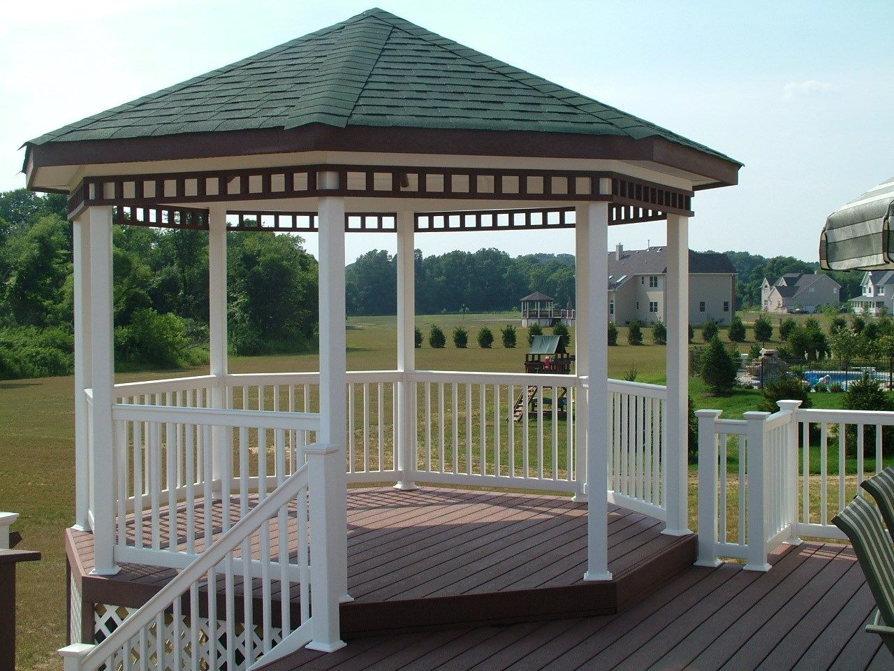 Custom Gazebo deck in Millstone NJ - Picture 3400