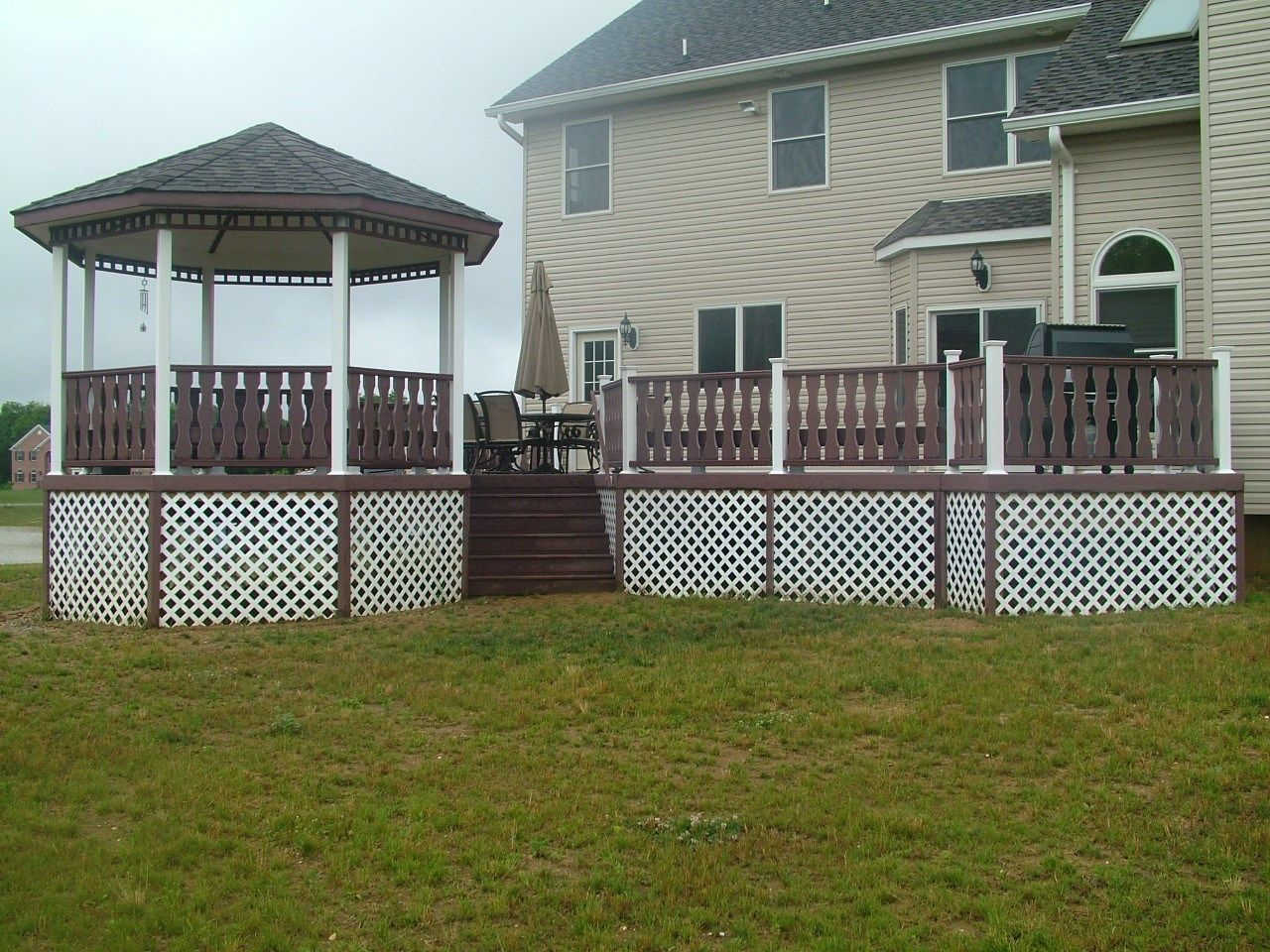 Custom Gazebo deck in Millstone NJ - Picture 3423