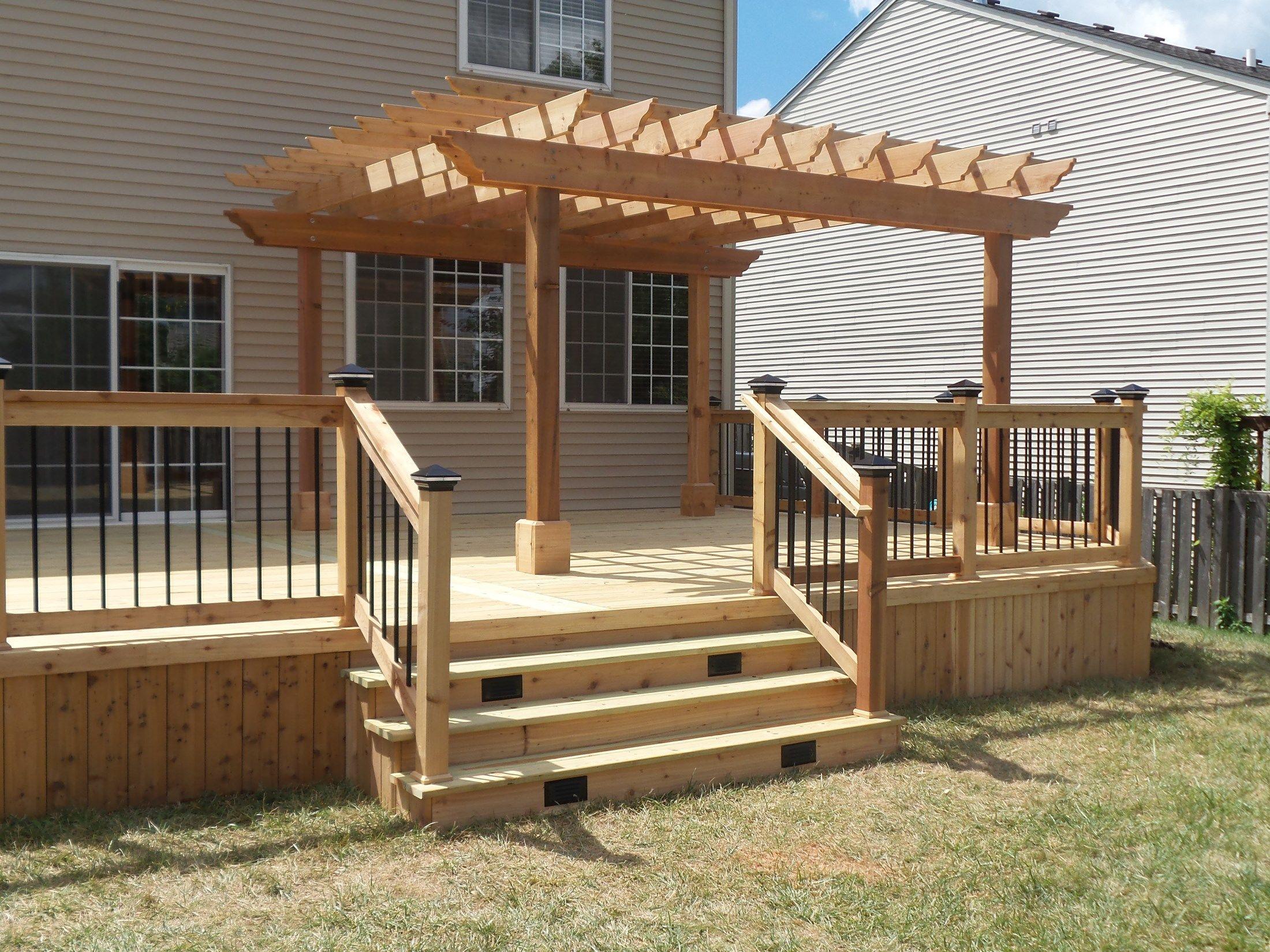 Ground Level Deck Ideas Designs Amp Pictures Wood Rail
