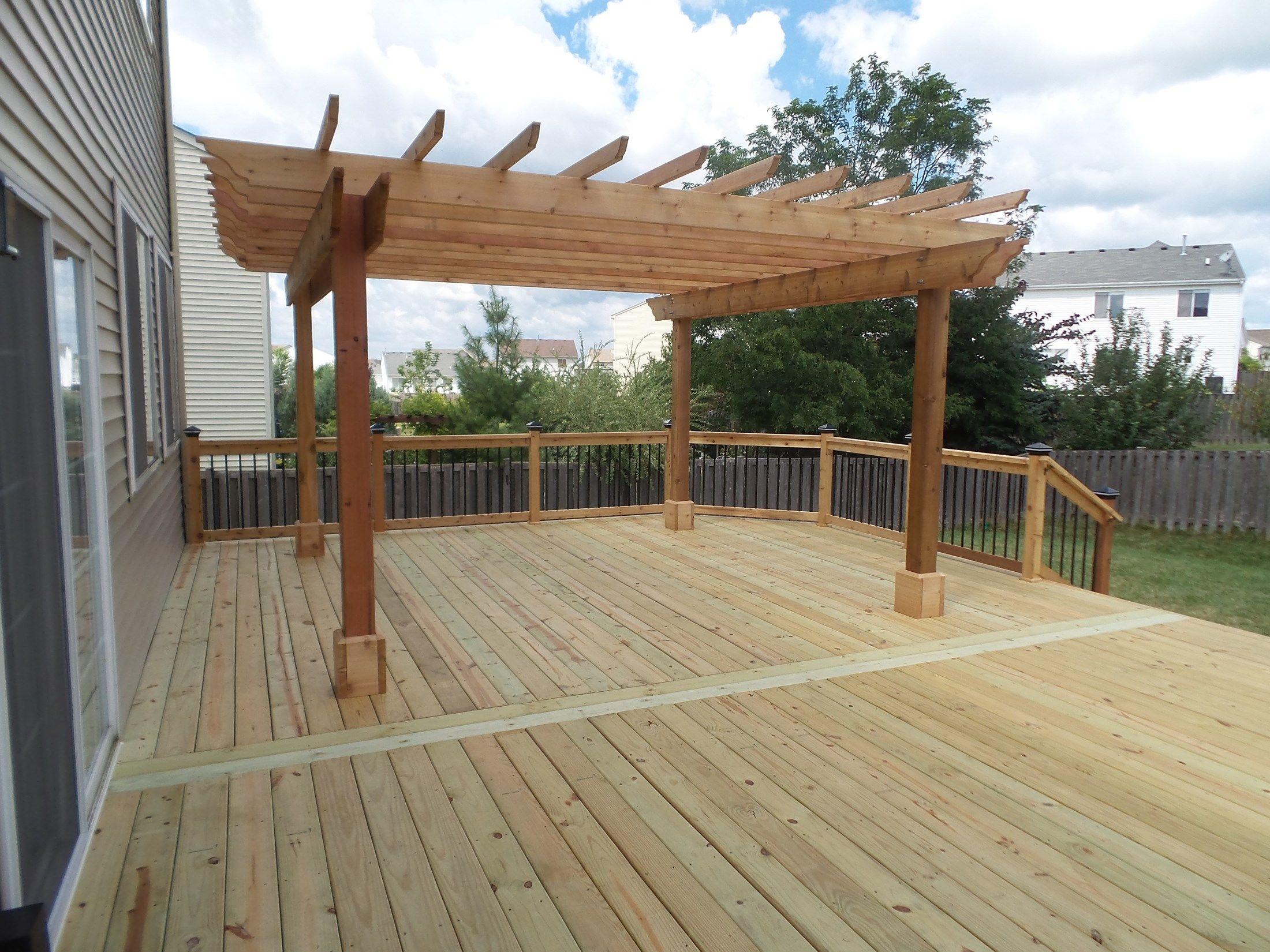 Decks Com Cedar Deck Amp Pergola Picture 3638
