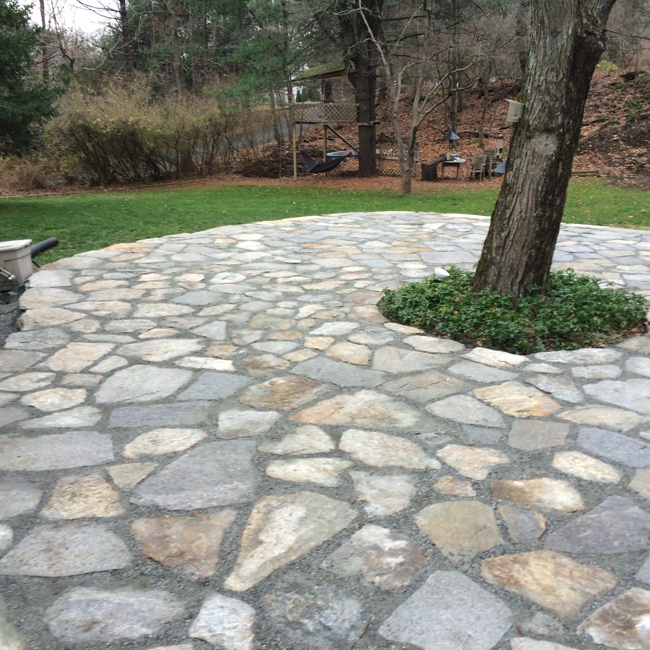 Re-pointed Patio Space in Wilton - Picture 3786