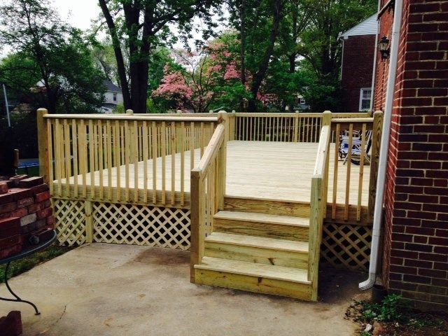 Pressure Treated Deck - Picture 3998