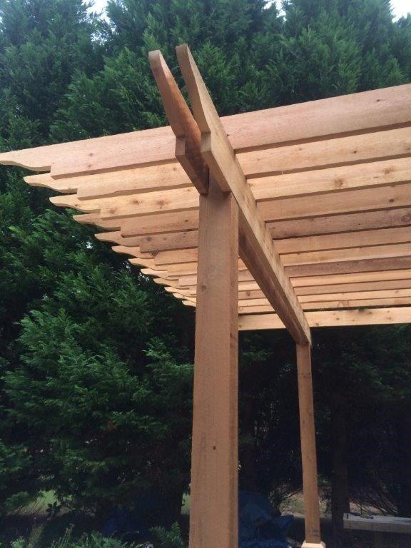 Cedar Pergola Deck - Picture 4017