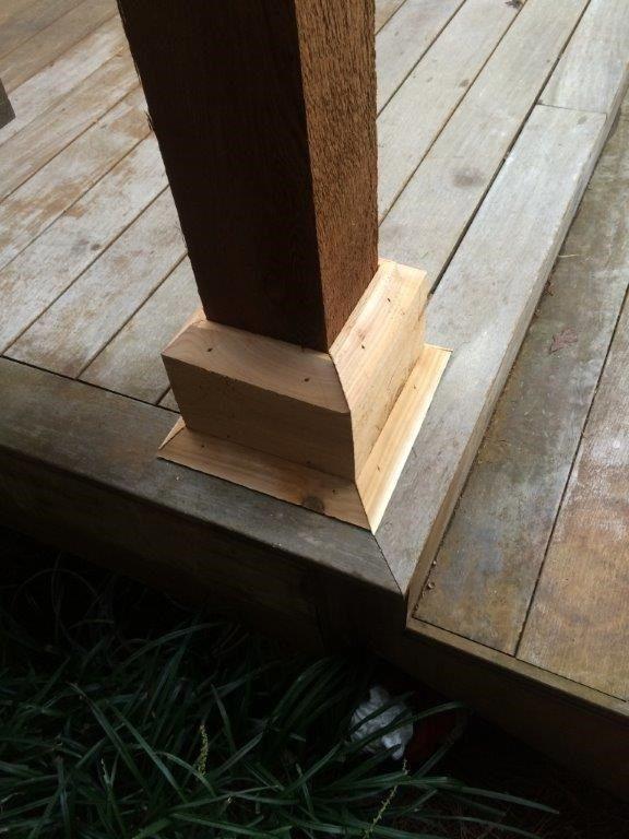 Cedar Pergola Deck - Picture 4018
