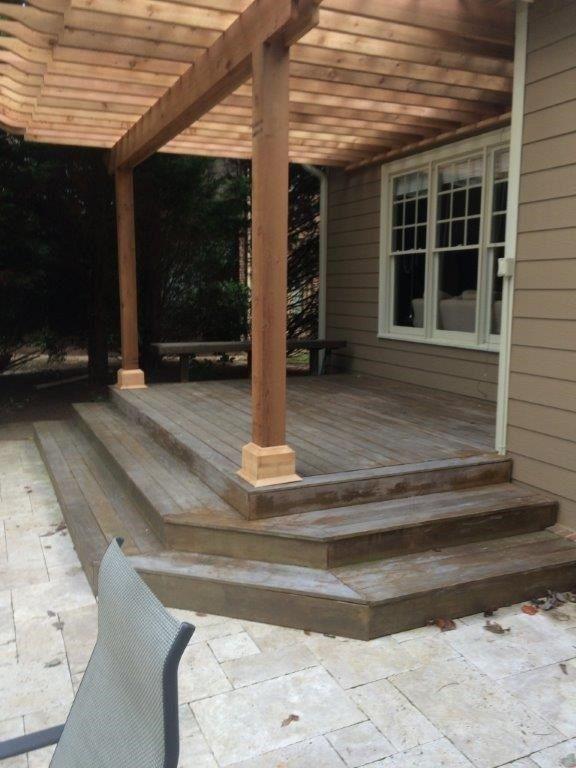 Cedar Pergola Deck - Picture 4021