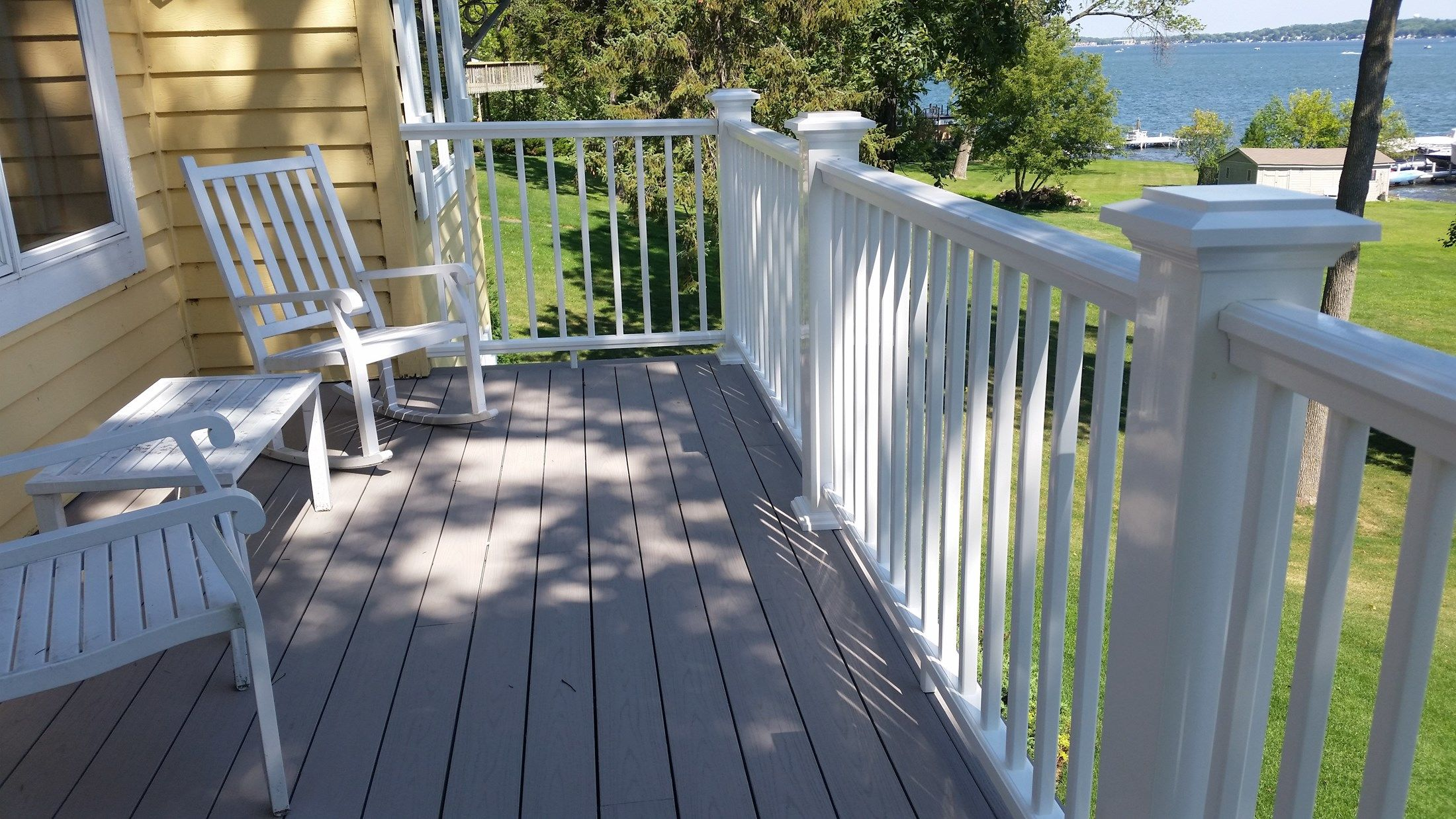 Gray Azek Deck - Picture 5092