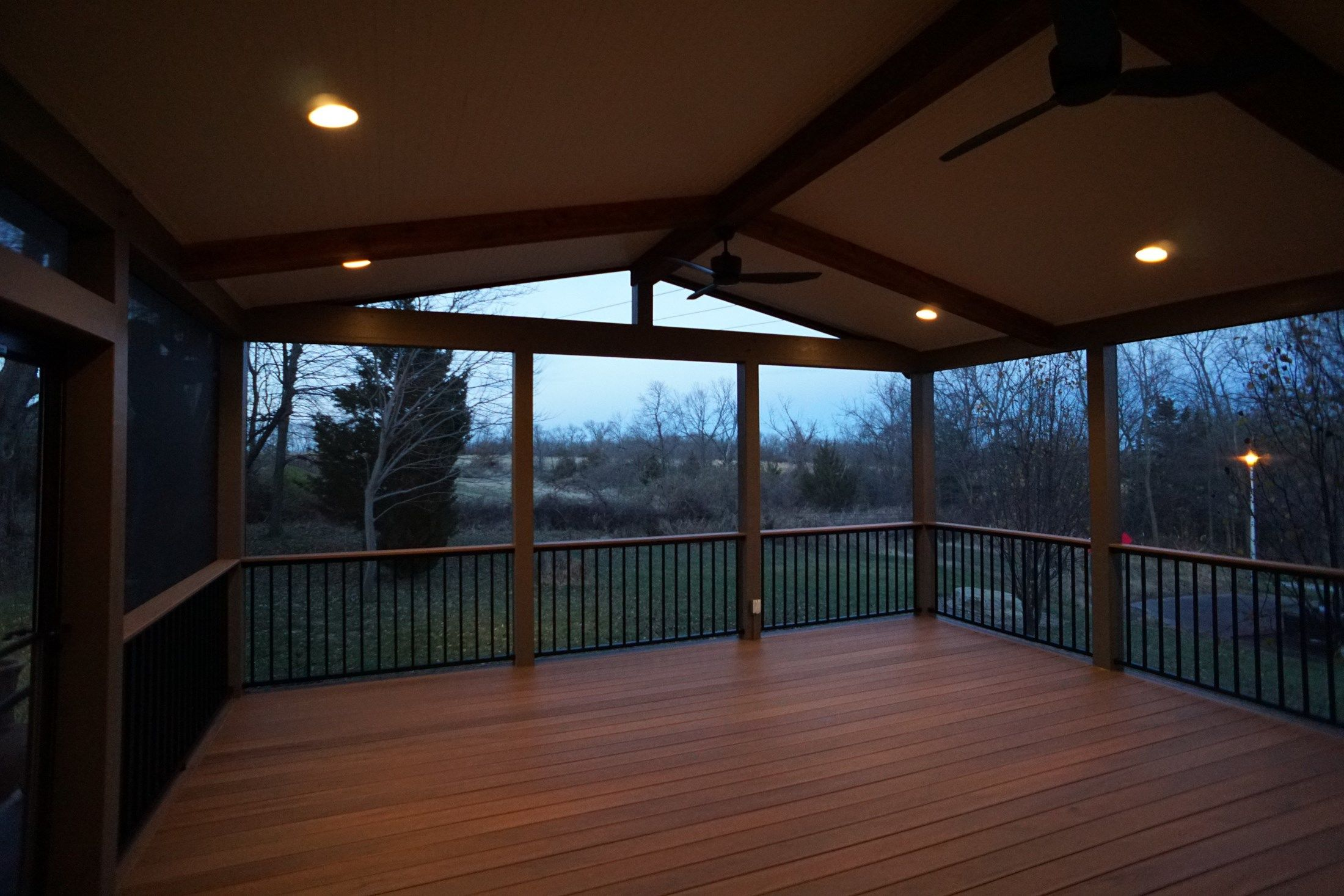 Gable Roof Screened Porch Picture 5177 Decks Com