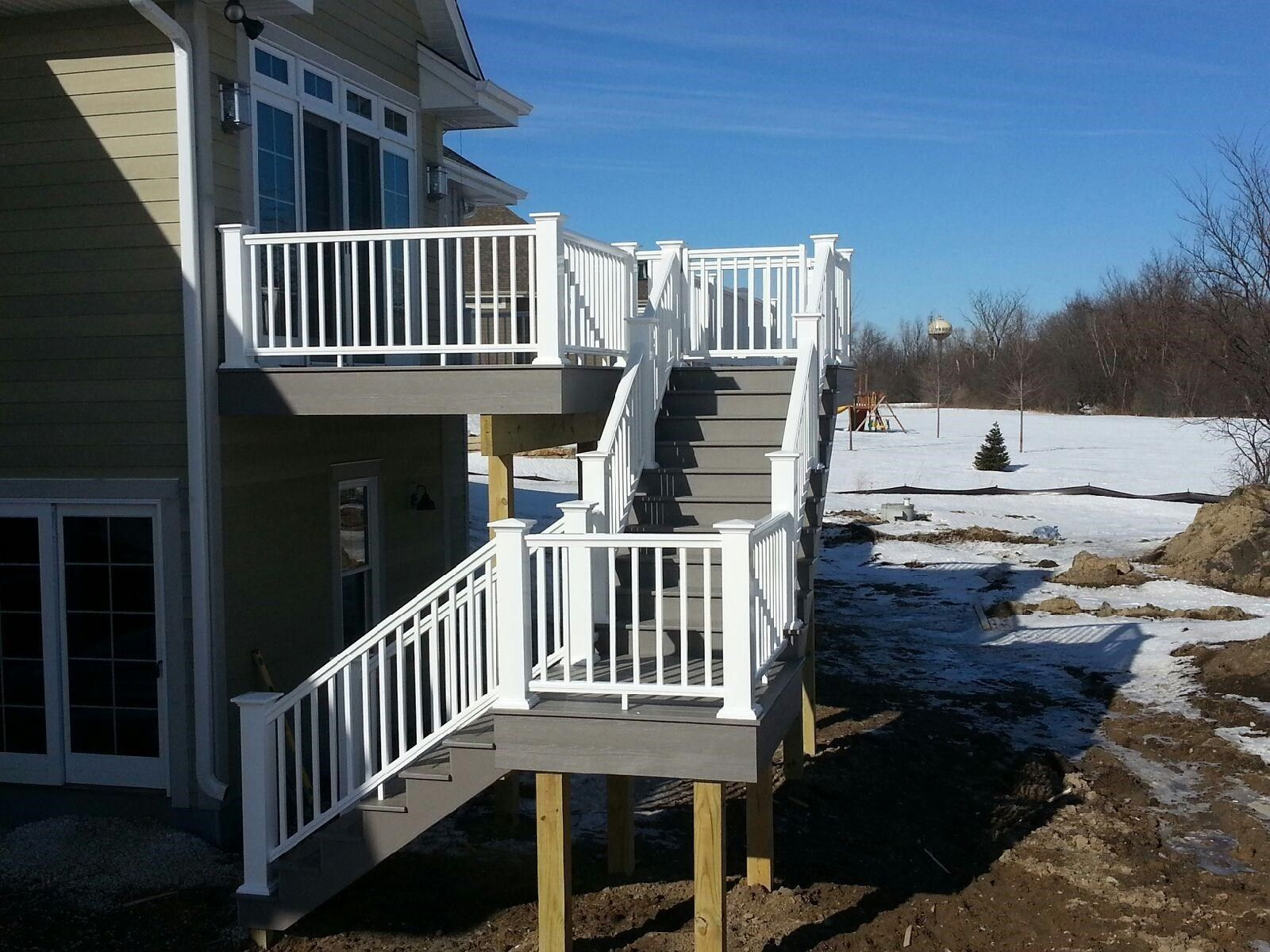 Deck with landing - Picture 6208
