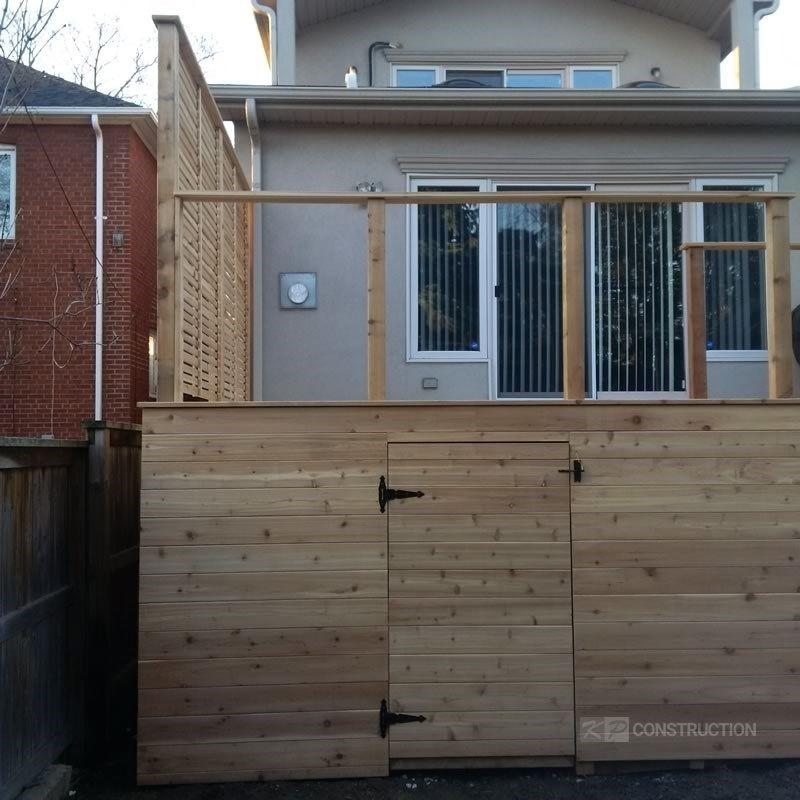 Custom Cedar Deck - Picture 6328
