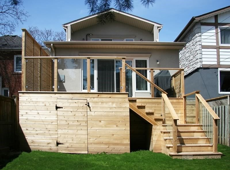 Custom Cedar Deck - Picture 6336