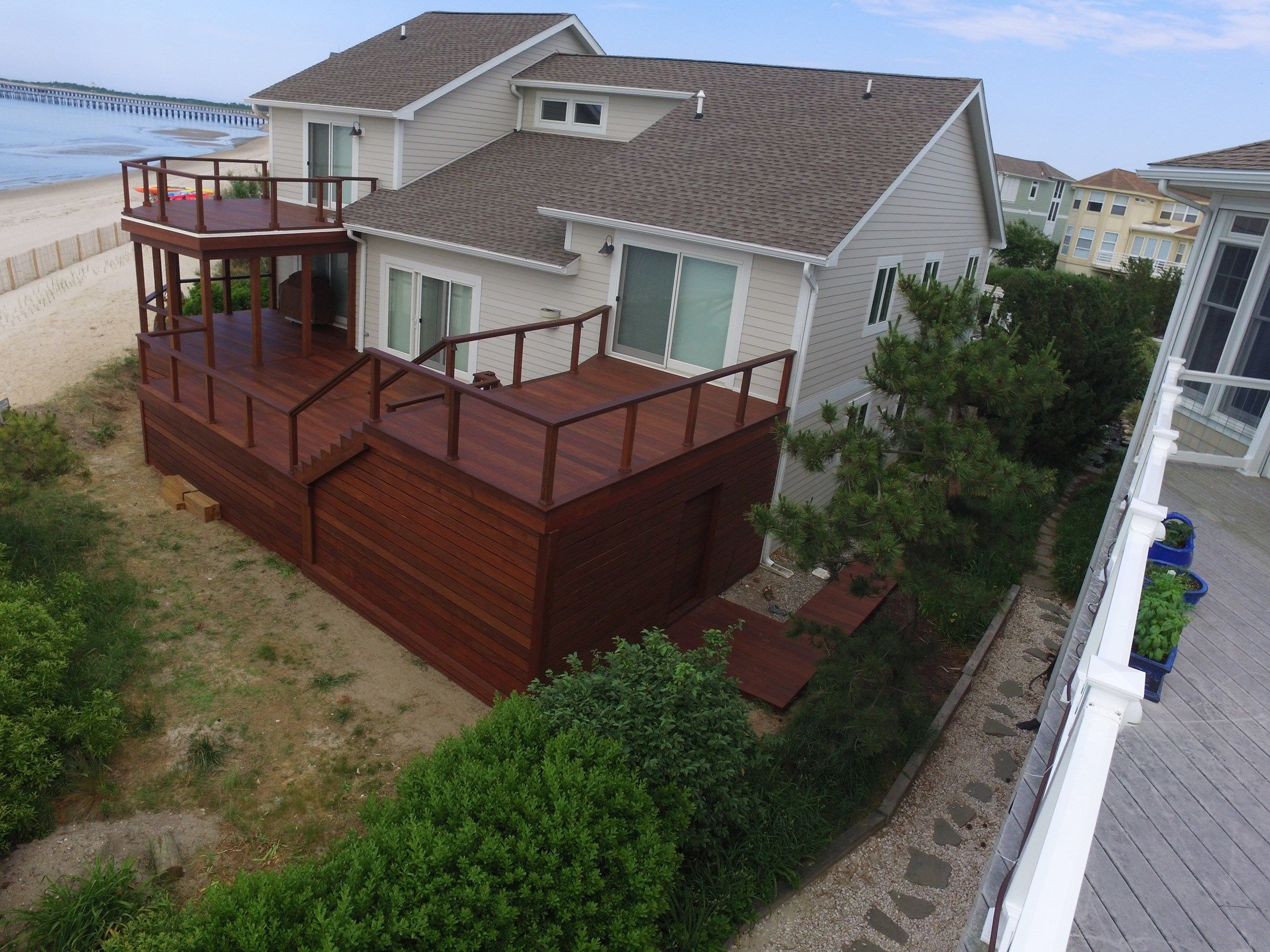 Large IPE Deck with Cable Rail - Picture 6498