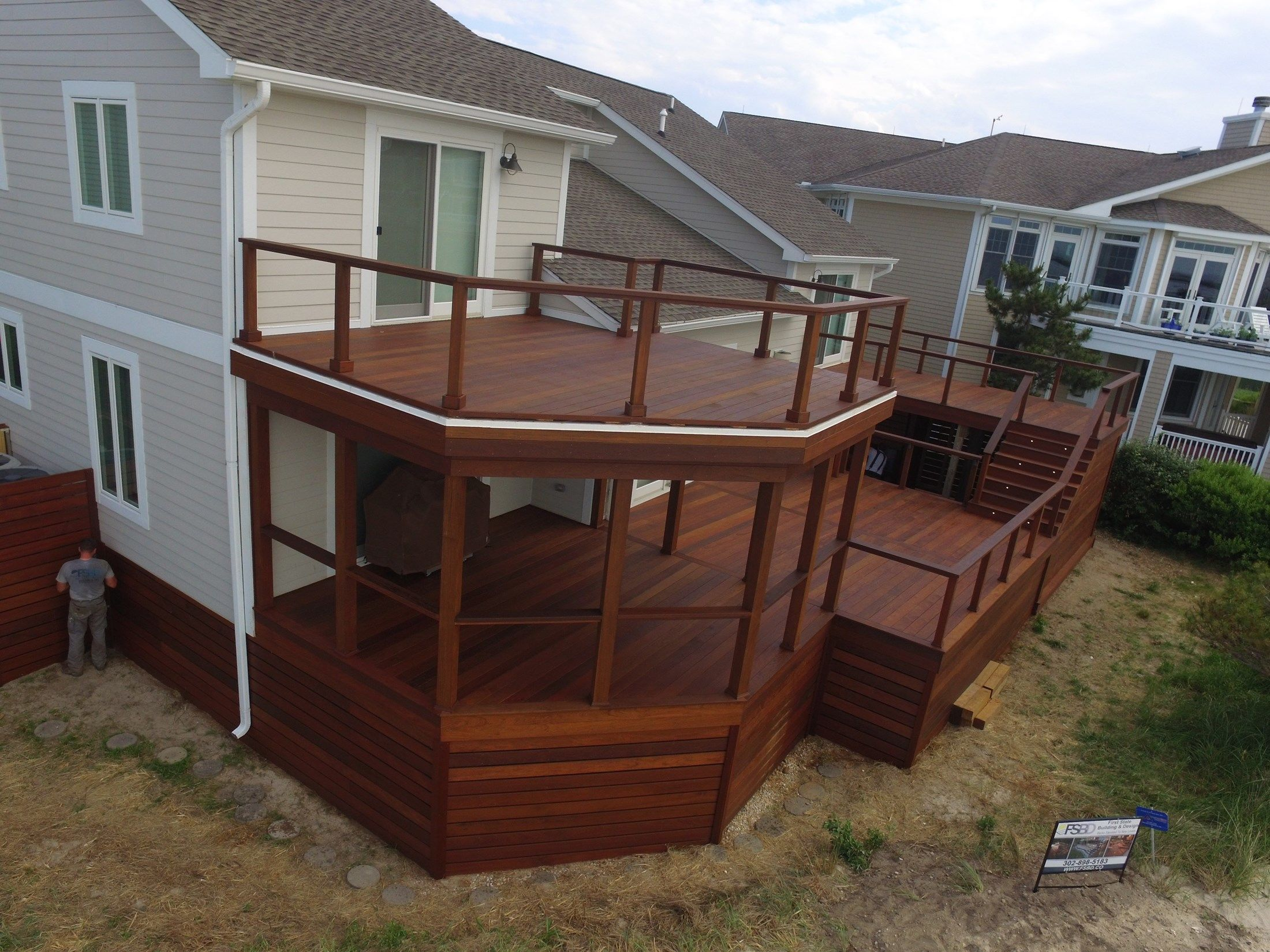 Large IPE Deck with Cable Rail - Picture 6500 | Decks.com