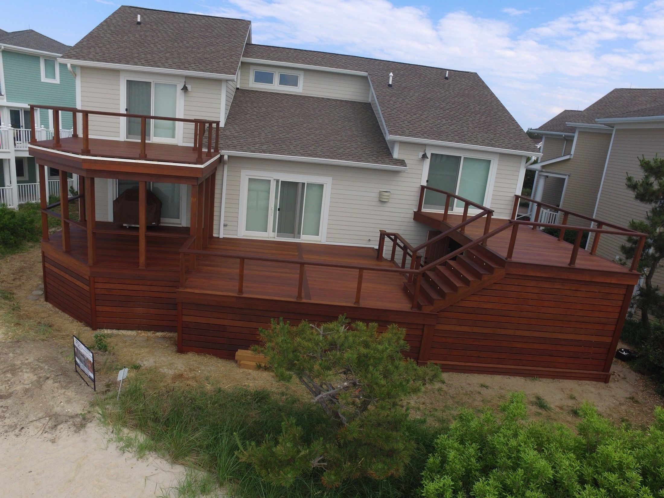 Large IPE Deck with Cable Rail - Picture 6501