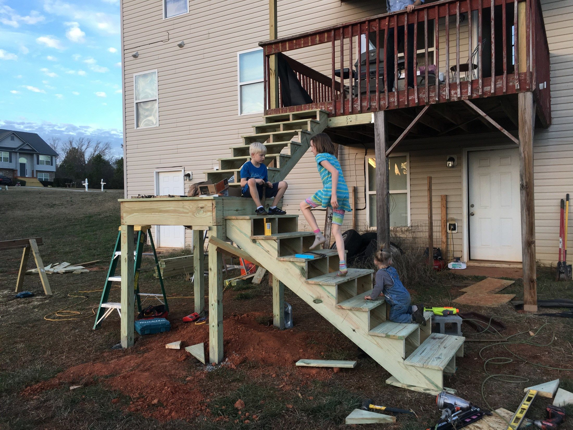 Pennington Deck Stairs - Picture 6687