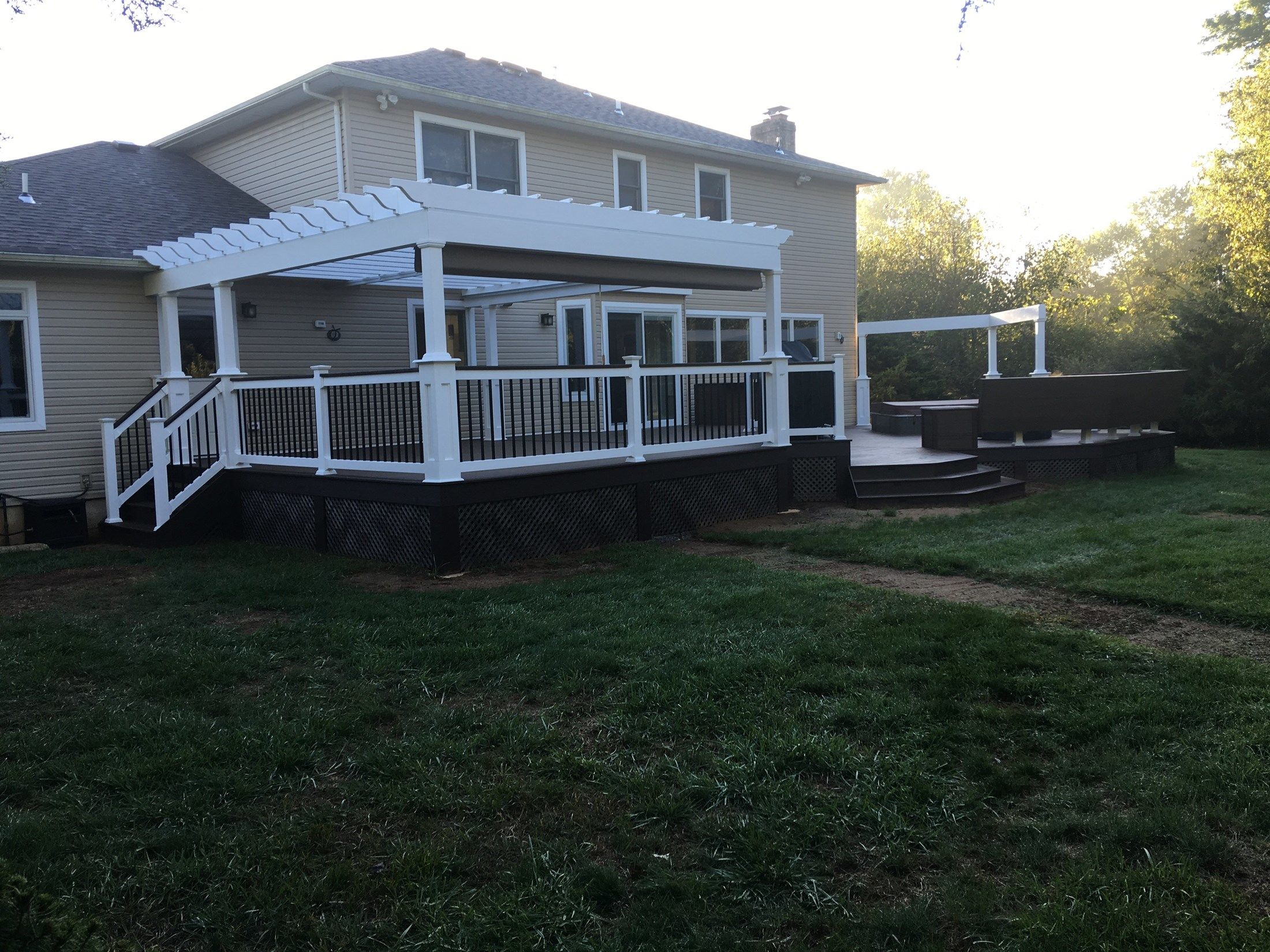 Custom deck in Millstone N.J. - Picture 6701