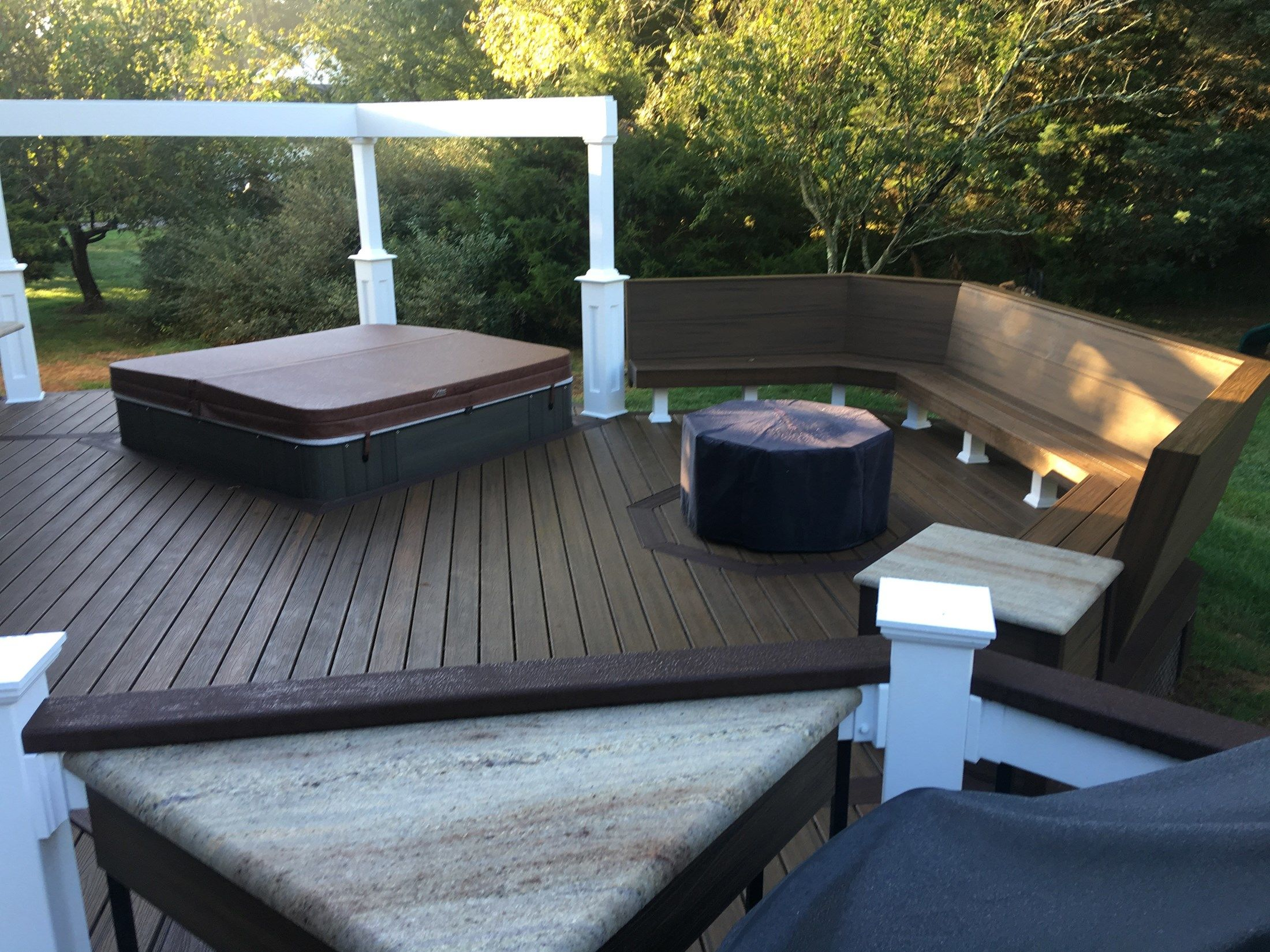 Custom deck in Millstone N.J. - Picture 6703