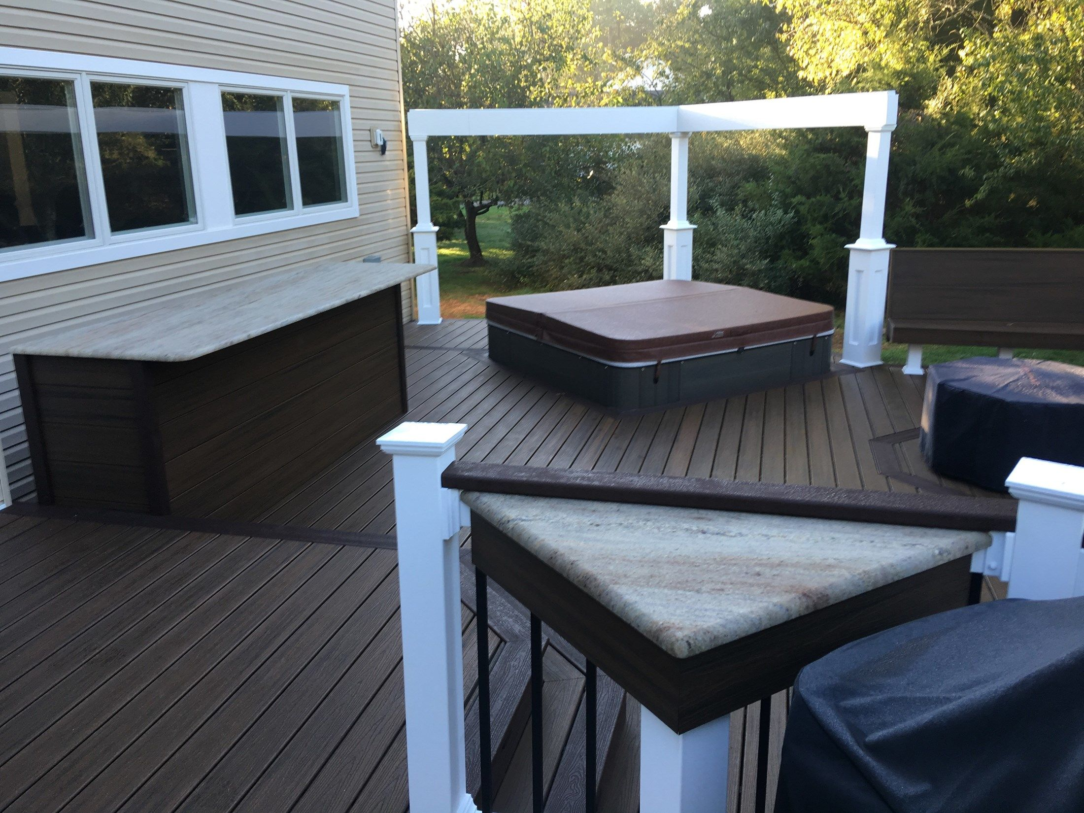 Custom deck in Millstone N.J. - Picture 6704