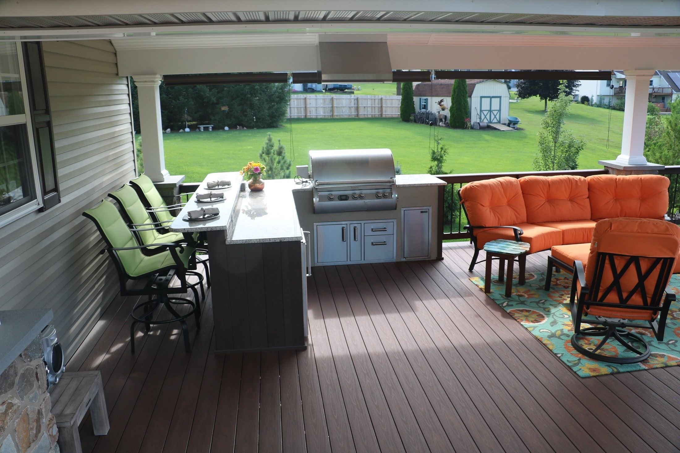 Timbertech Deck w/ Roof & Outdoor Kitchen - Picture 6730