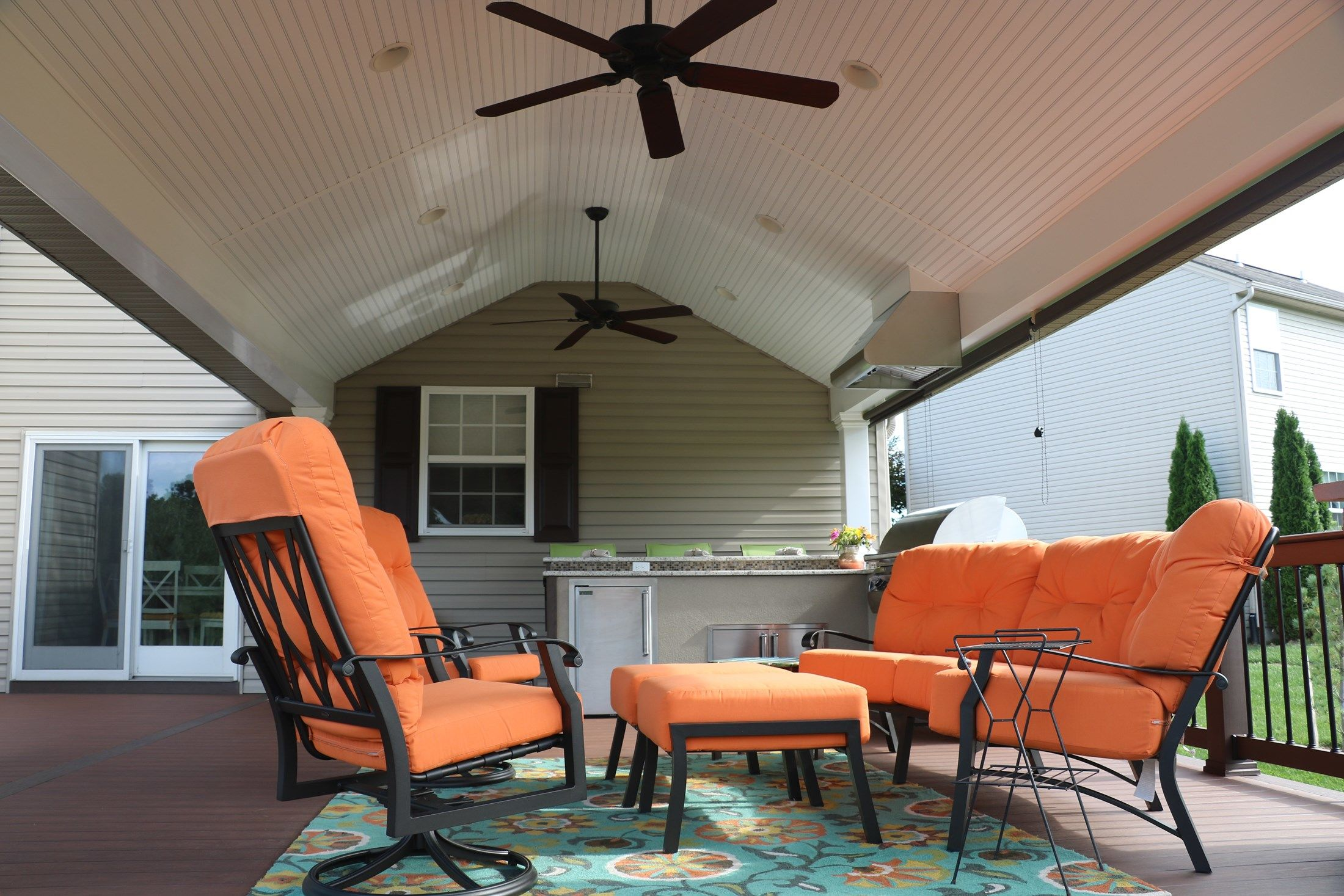 Timbertech Deck w/ Roof & Outdoor Kitchen - Picture 6731